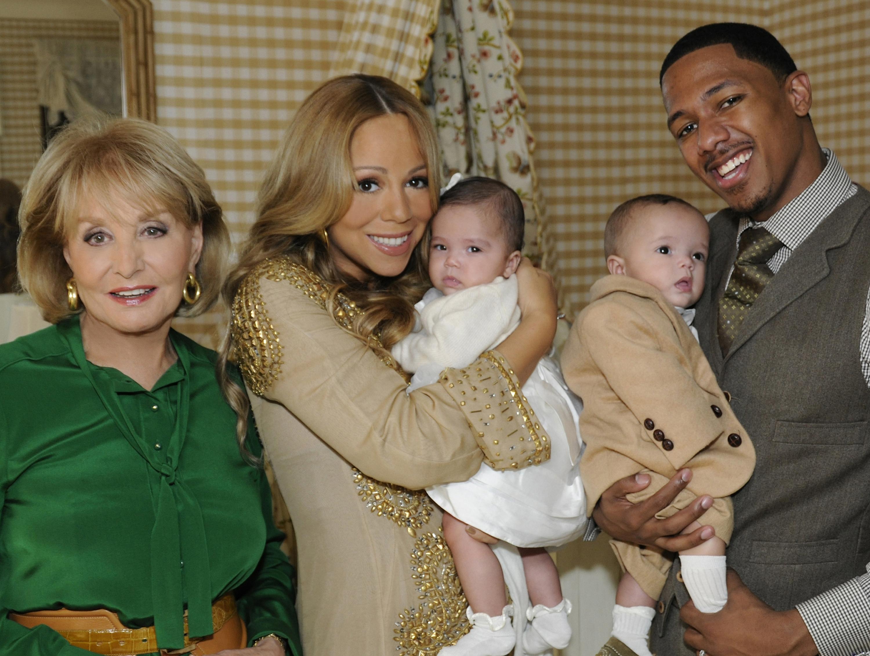 Mariah Carey, Nick Cannon, Barbara Walters