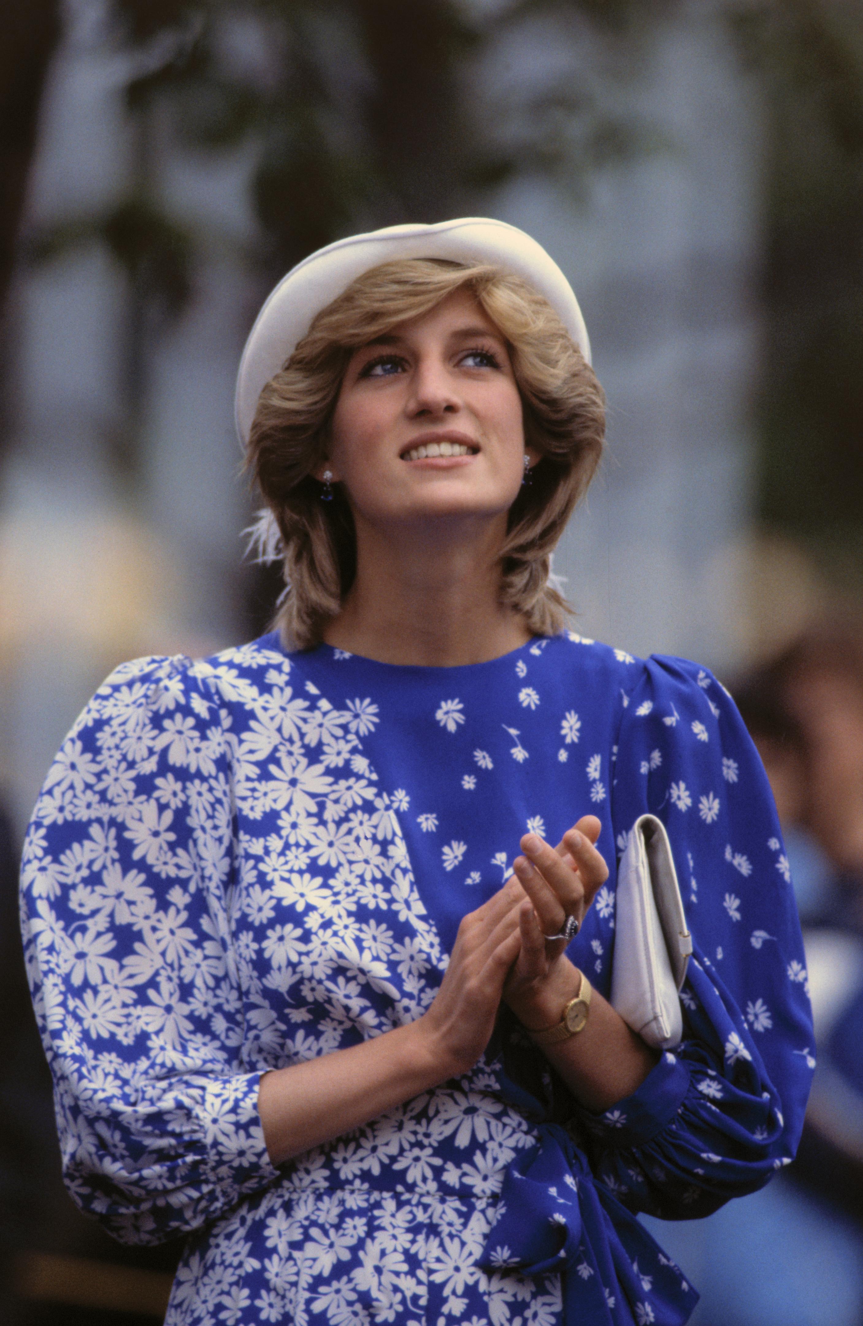Princess Diana Applauding