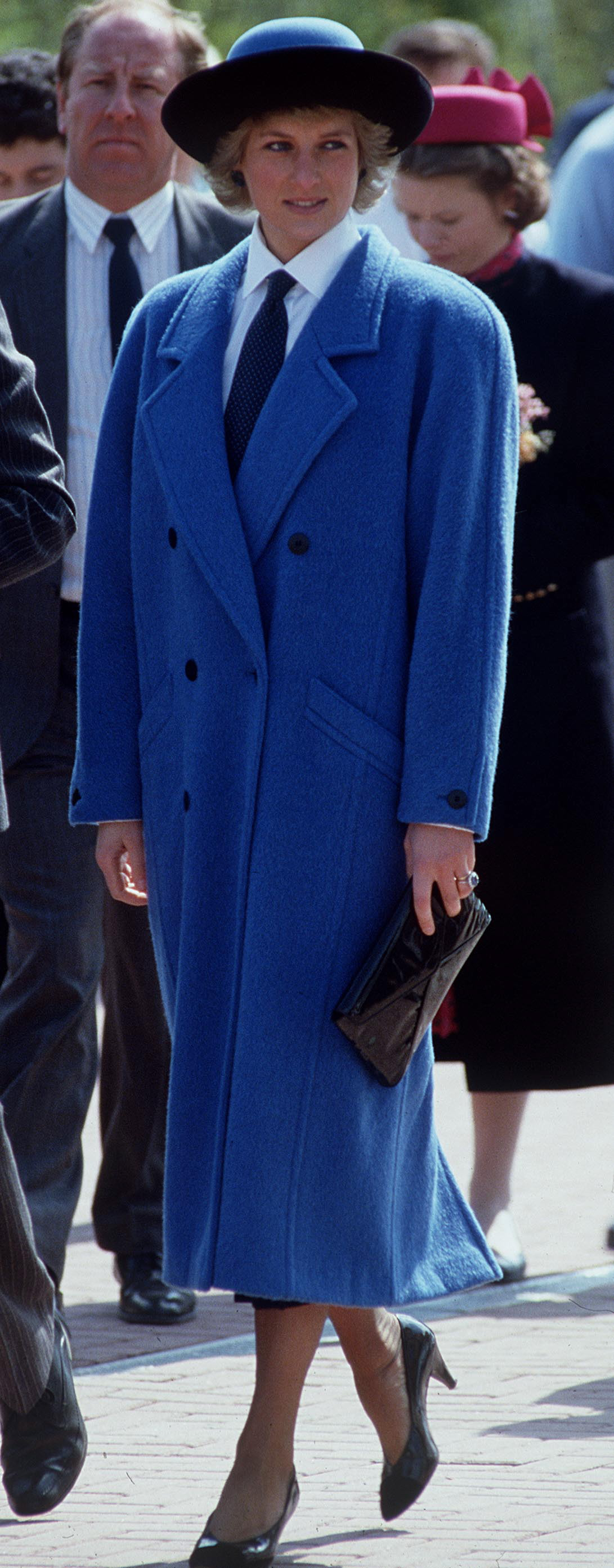 Diana Blue Coat And Tie