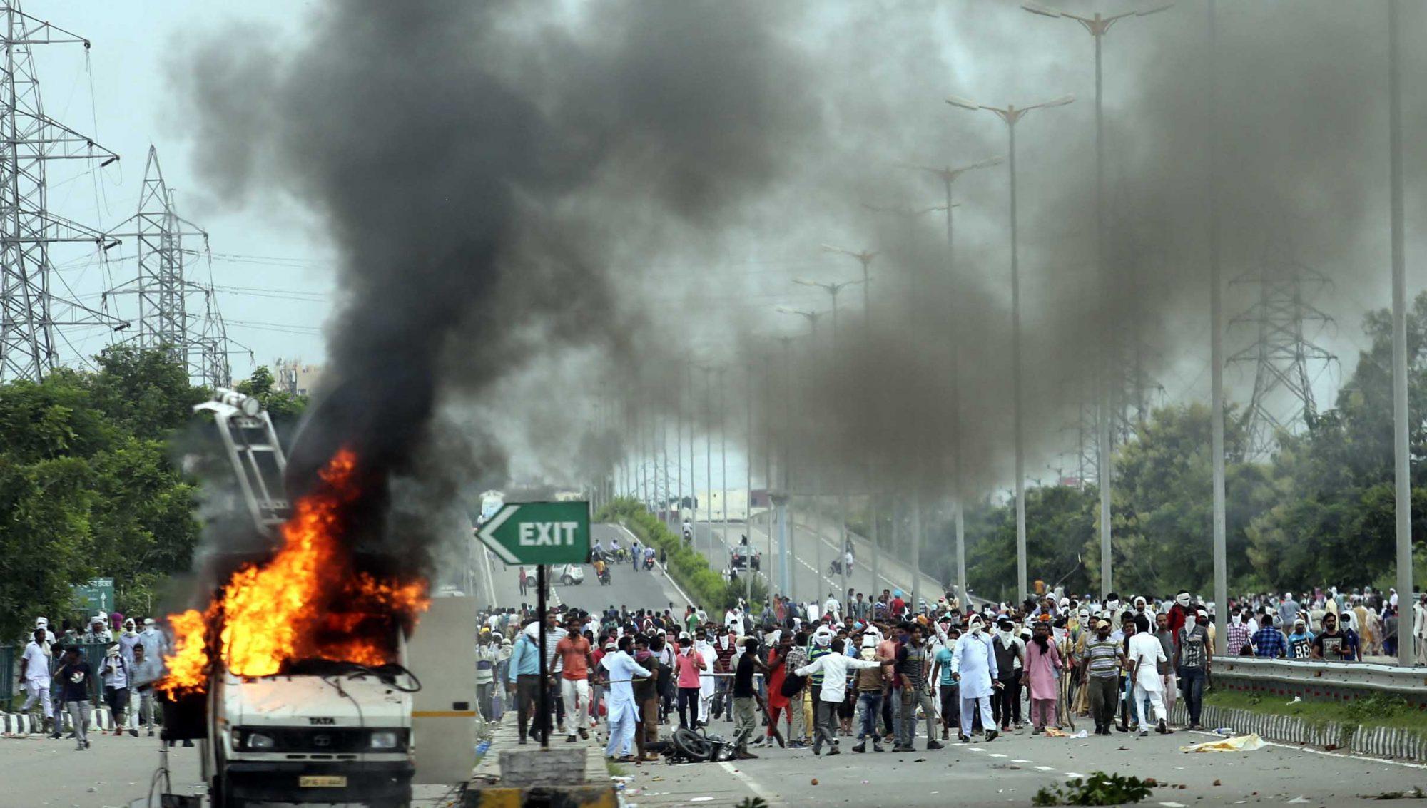 Protestas en India protagonizadas por seguidores de Gurmeet Ram Rahim Singh