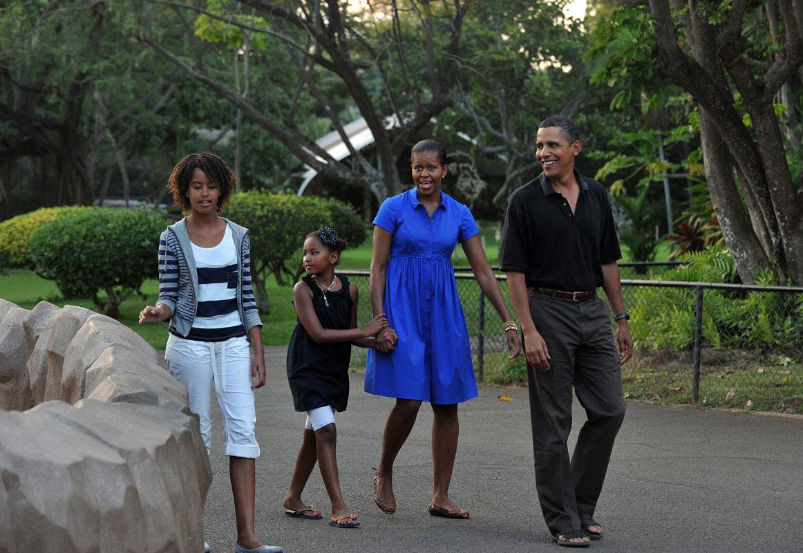 Sasha, Malia Obama, su evolución