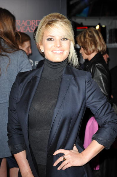 Jessica Simpson arrives for the premiere