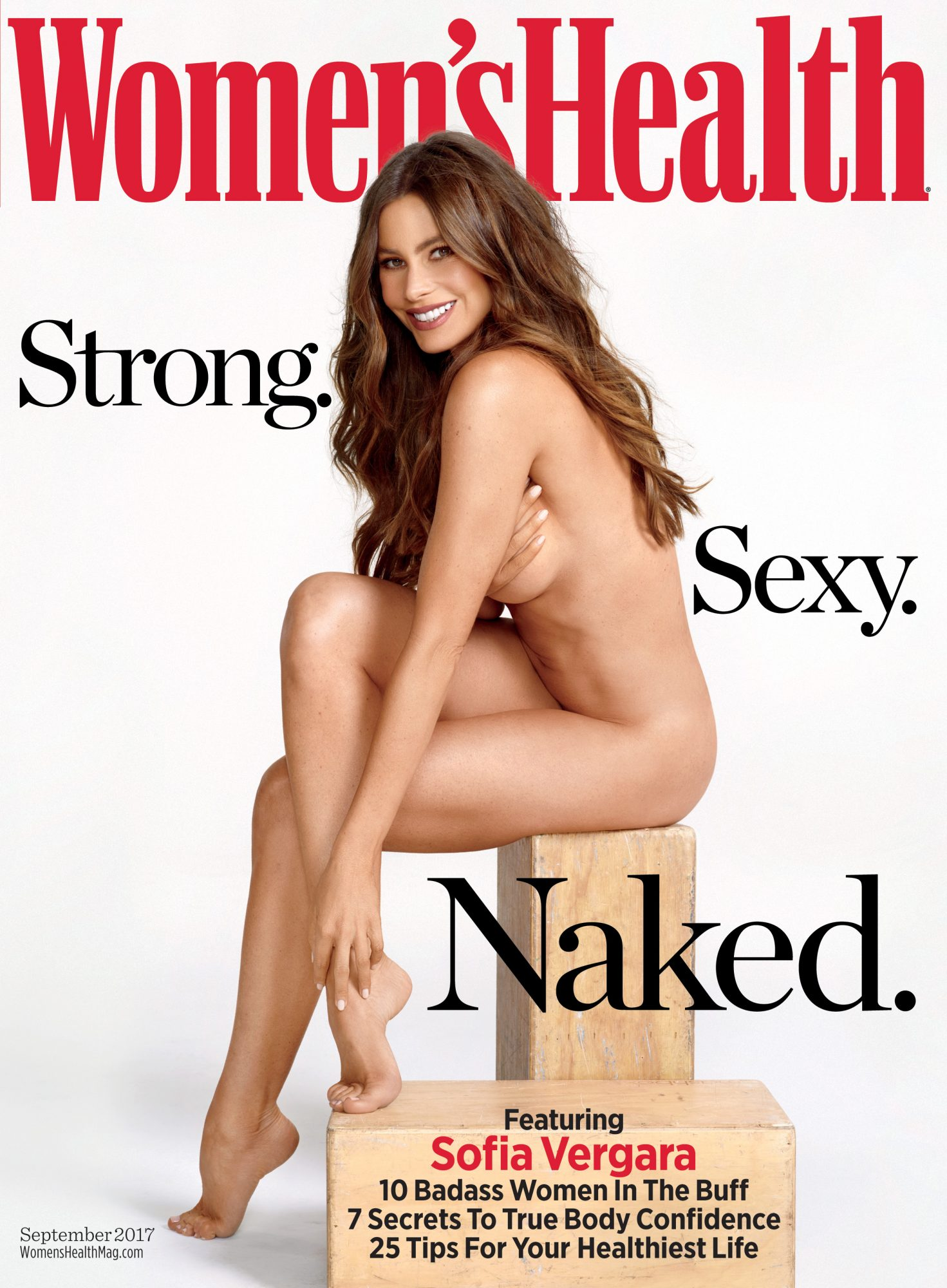 Sofia Vergara, desnuda, revista, portada, womens health, modern family