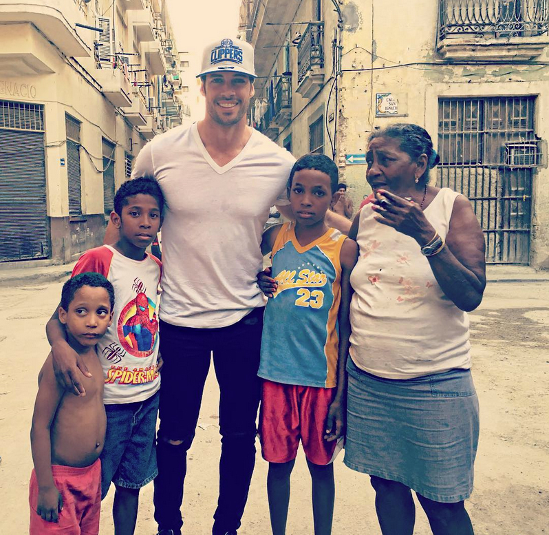 William Levy en su visita a Cuba