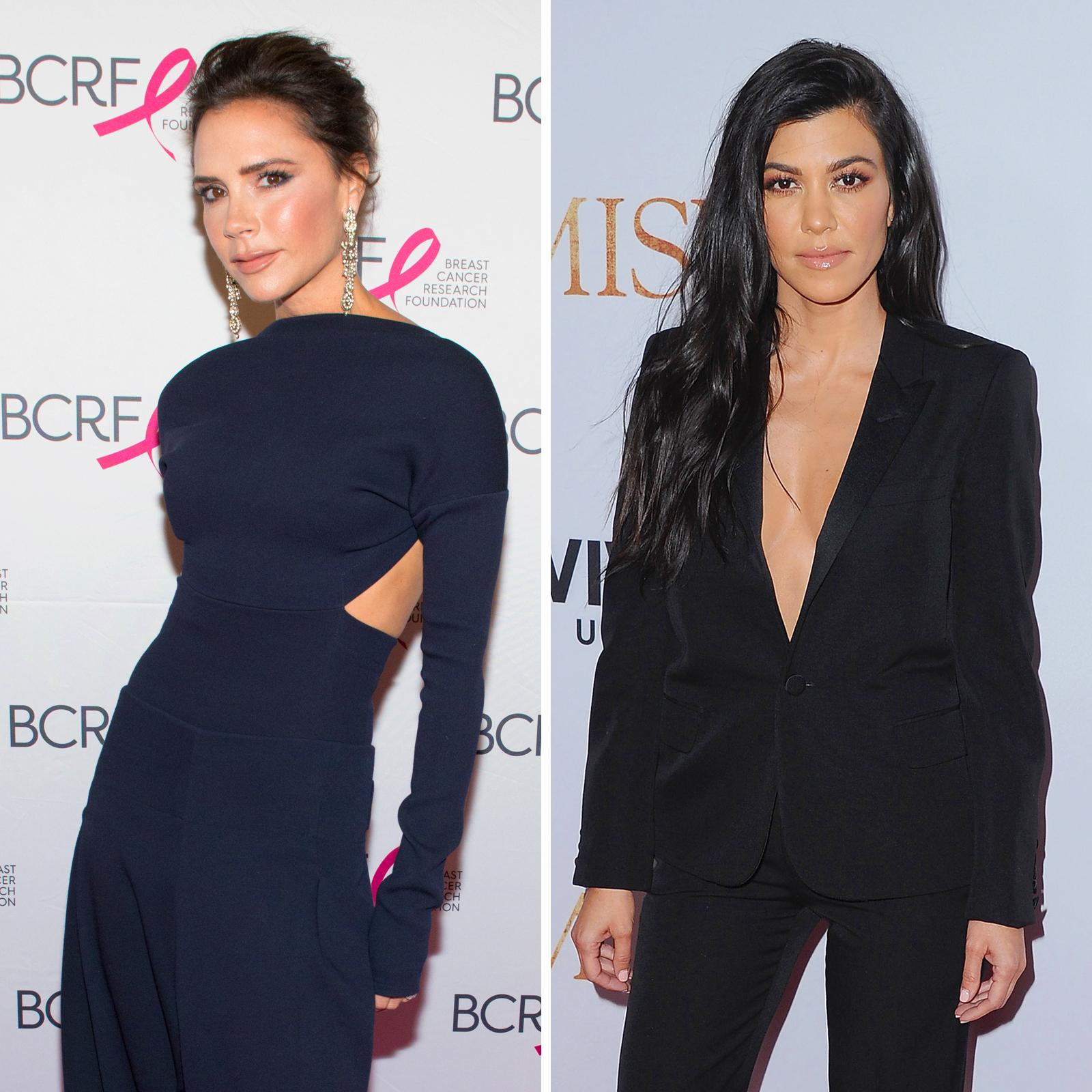 Victoria Beckham y Kourtney Kardashian
