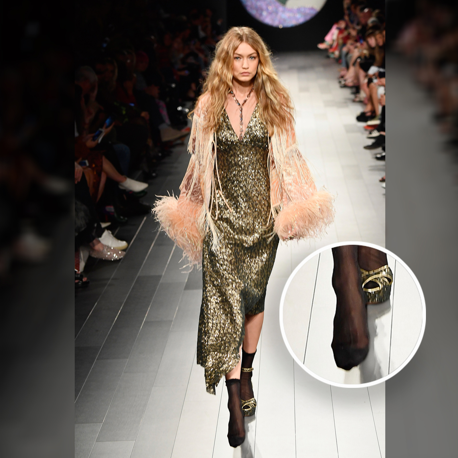 Gigi Hadid, fashion show, shoes, anna sui, sister, nyfw, bella hadid