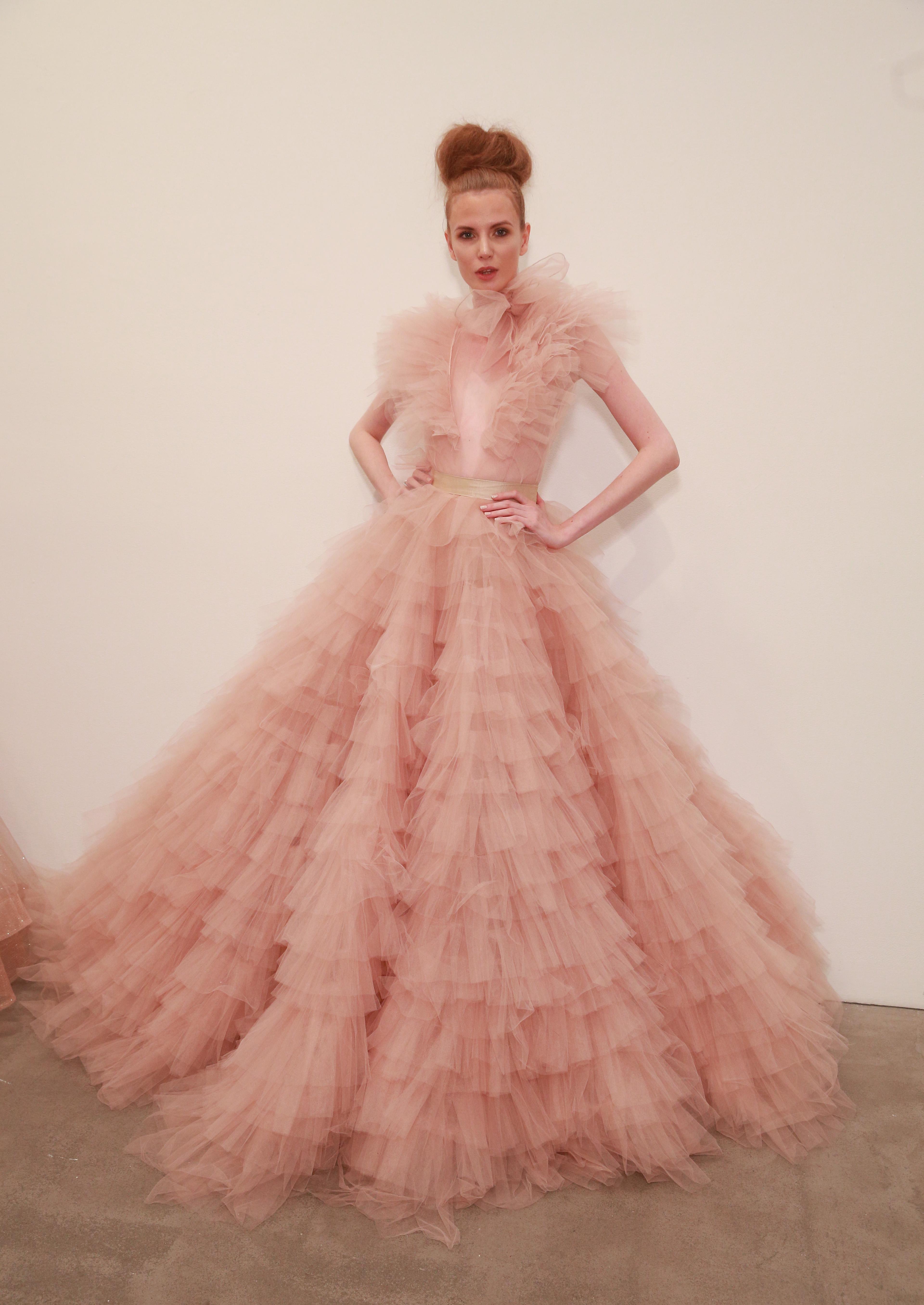 Michael Costello, NYFW, vestidos, trajes, primavera, coleccion, 2018