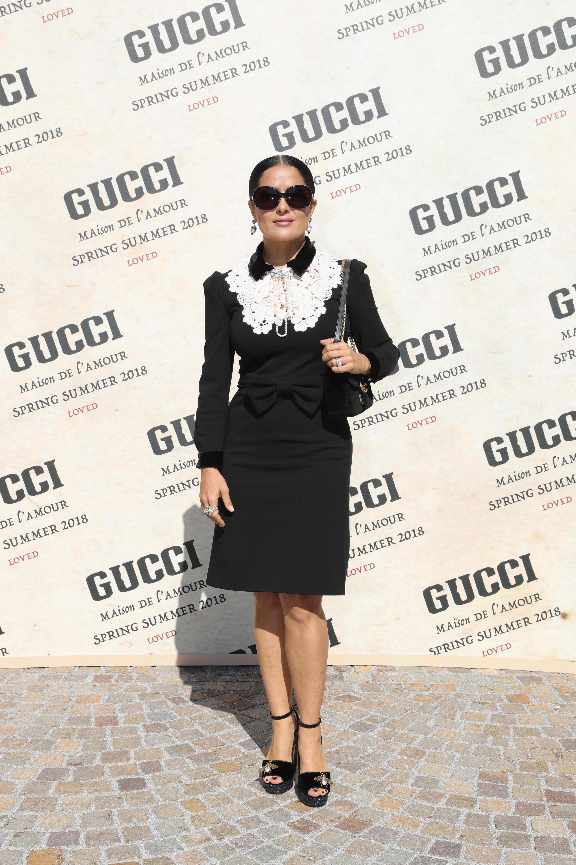 Salma Hayek, look, estilo, moda, style, londres, desfile, show
