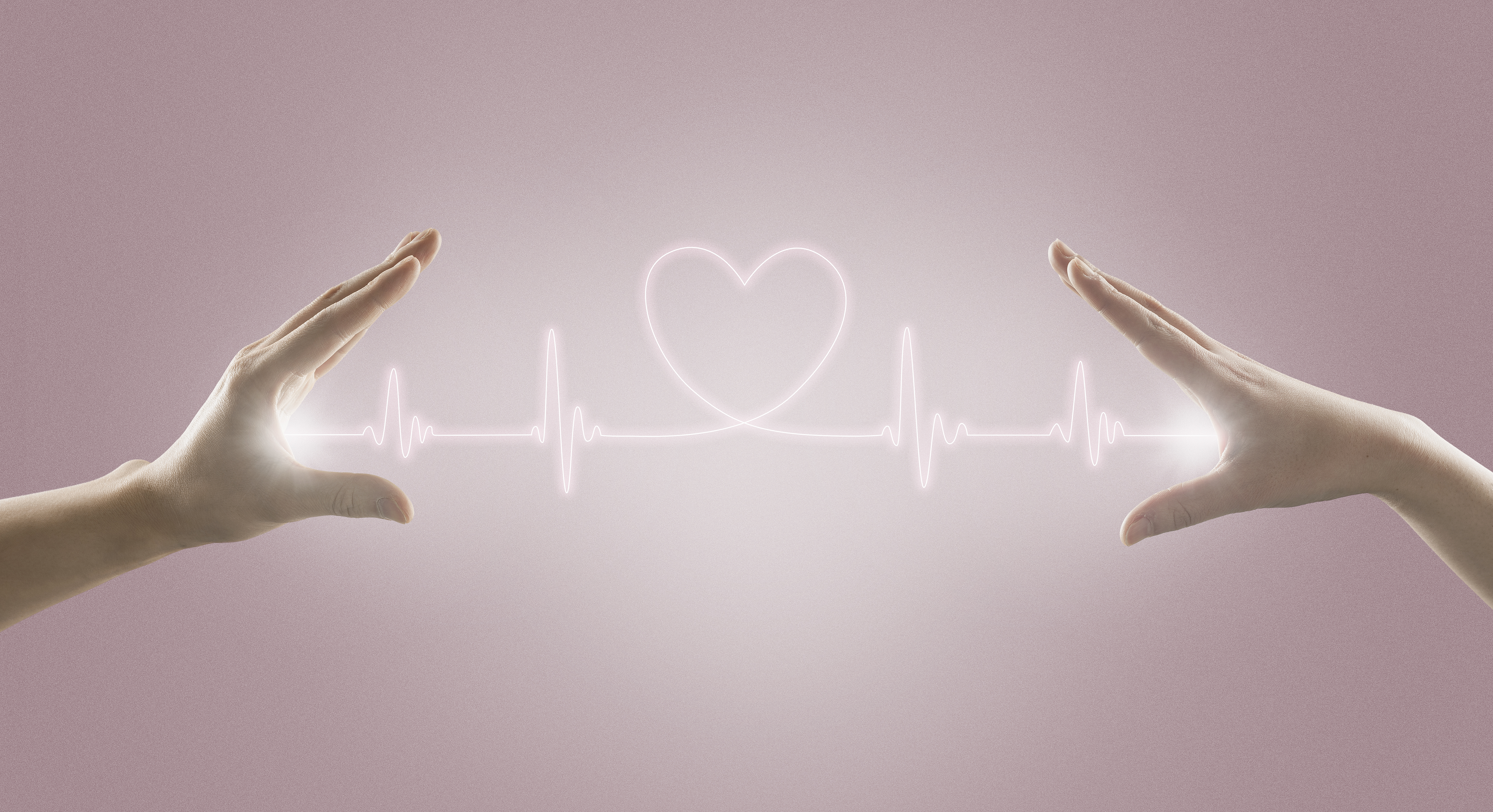 Heart rate line and the hand