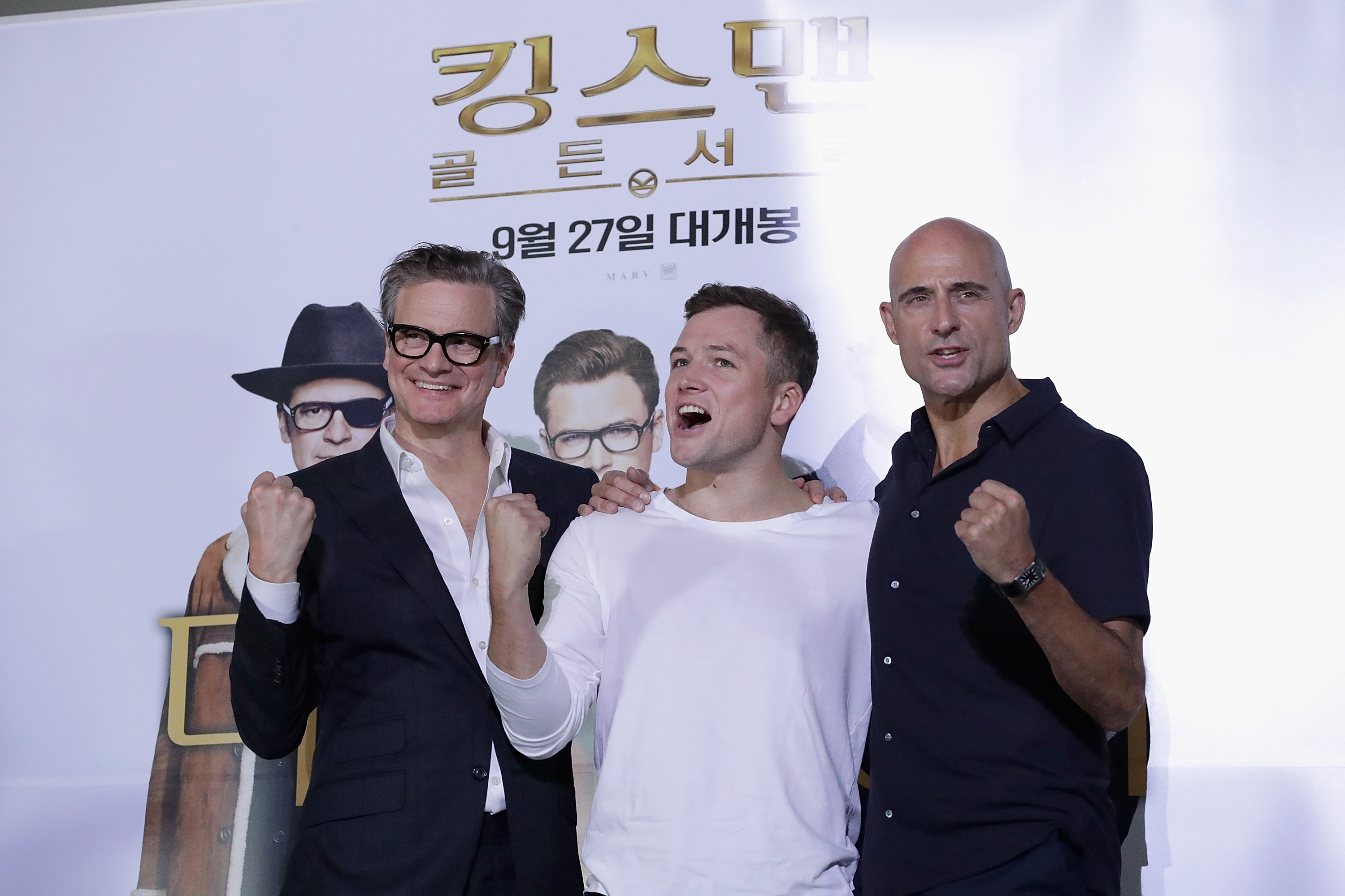 Colin Firth, Taron Egerton, Mark Strong