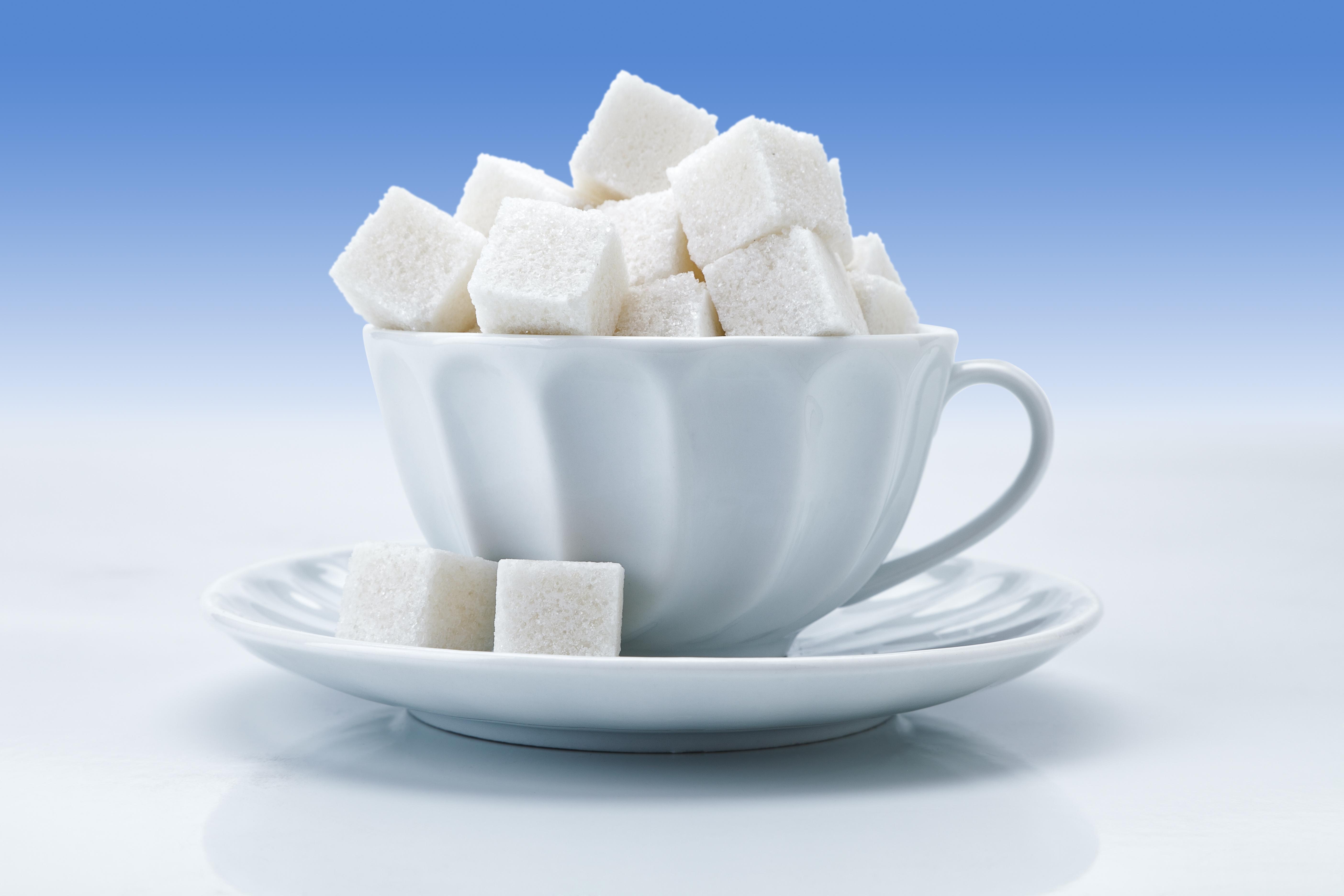 Tea cup with sugar