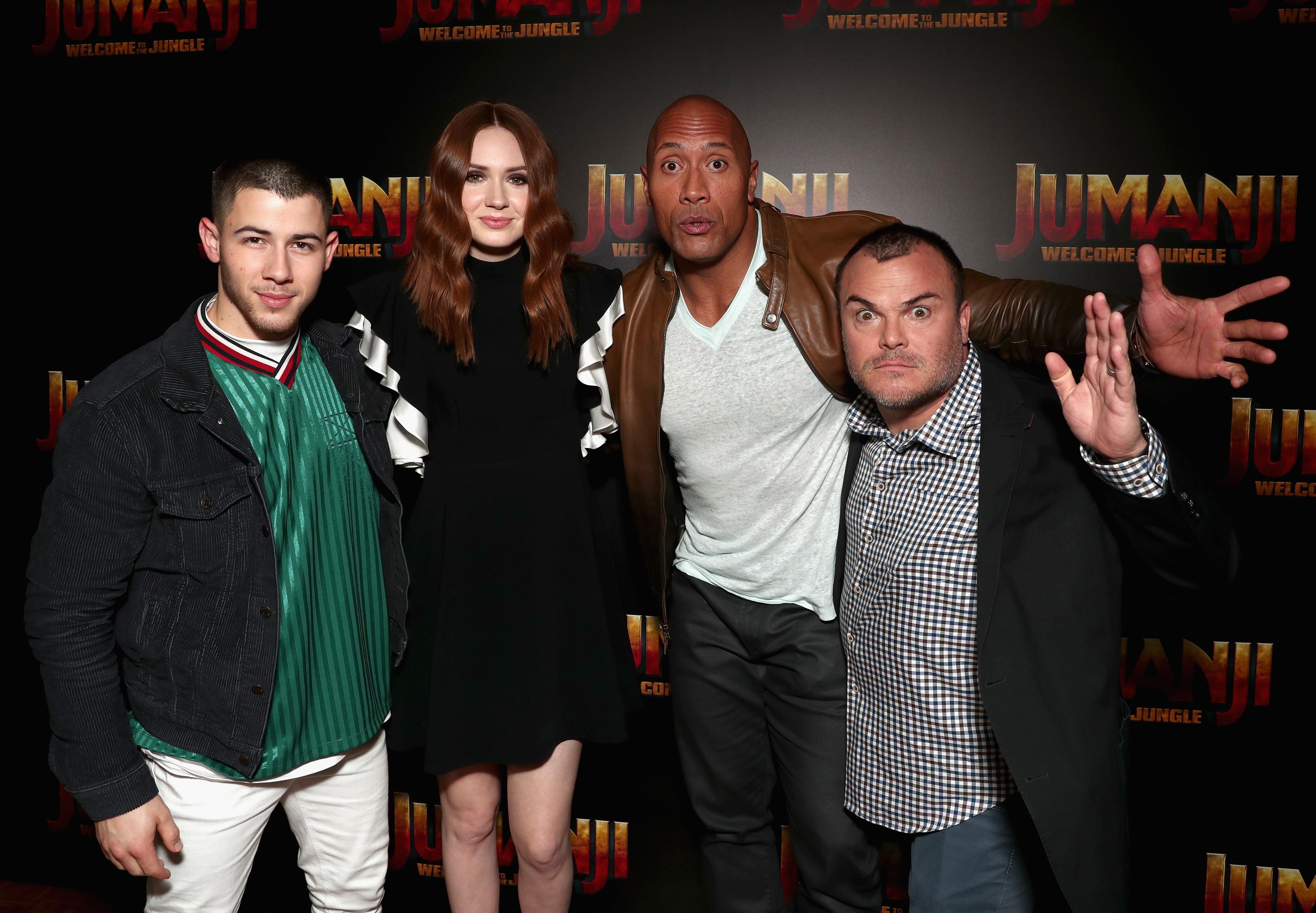 Nick Jonas, Karen Gillan, Dwayne Johnson, Jack Black