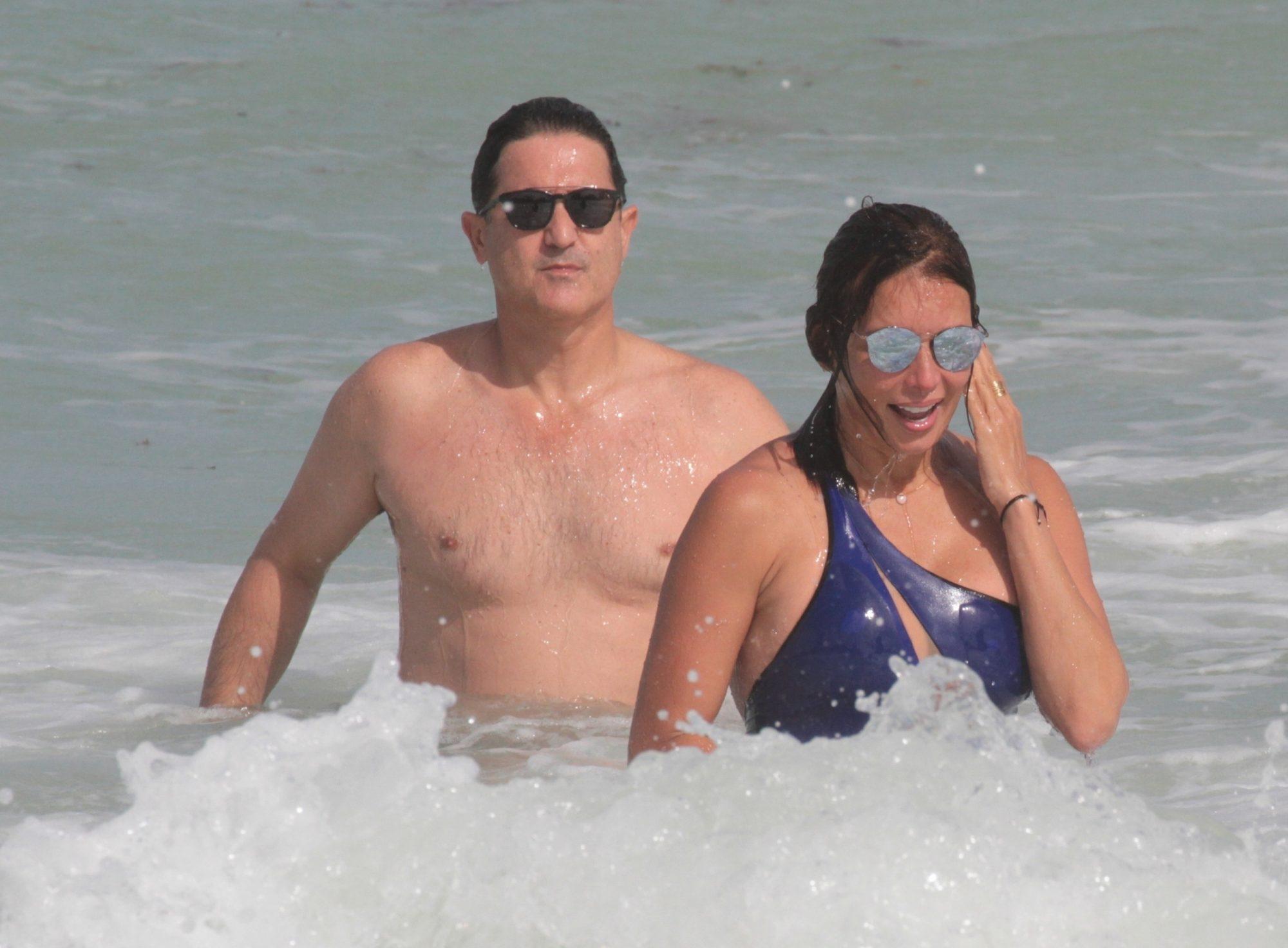 Giselle Blondet y su novio Jaime Fernandez