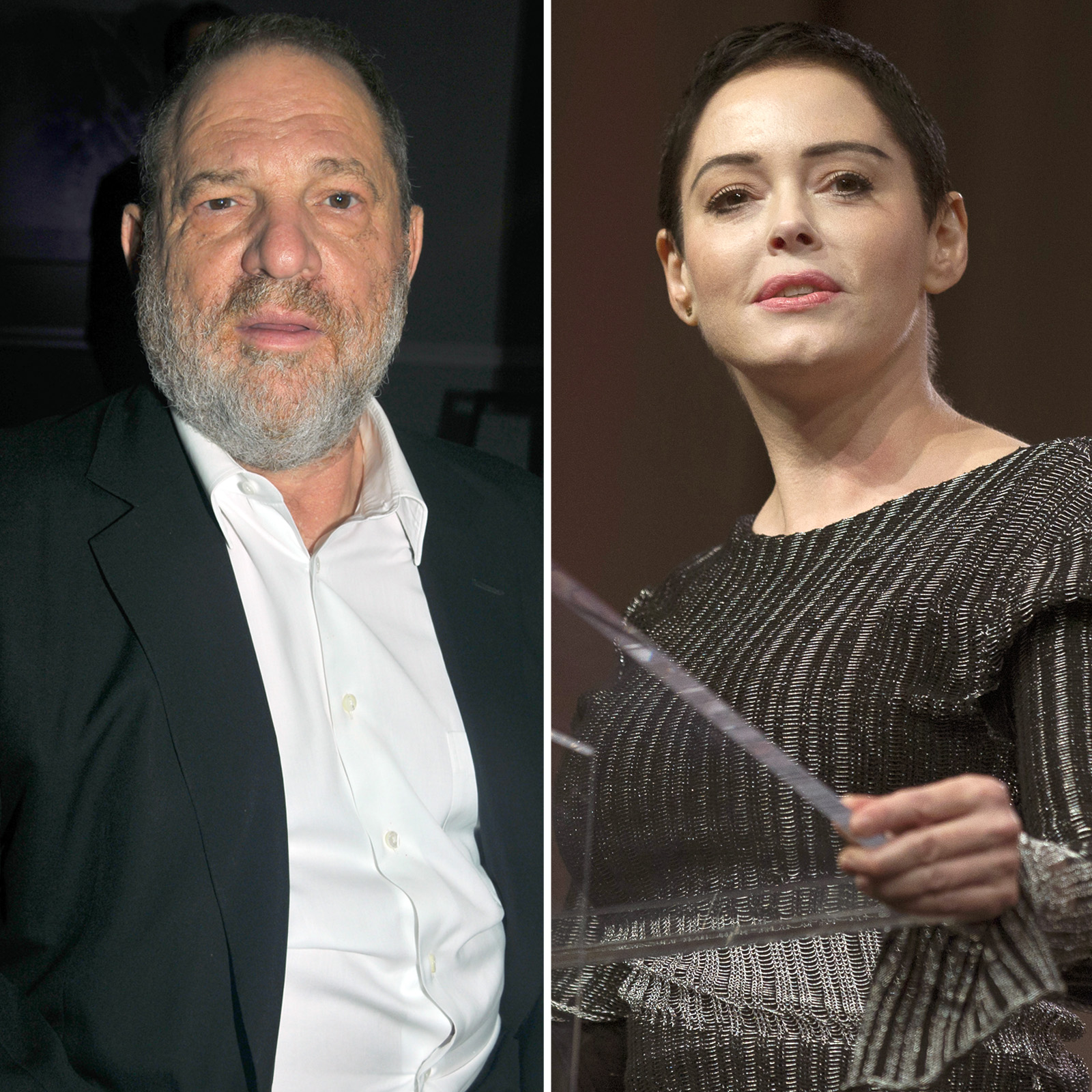Harvey Weinstein y Rose McGowan