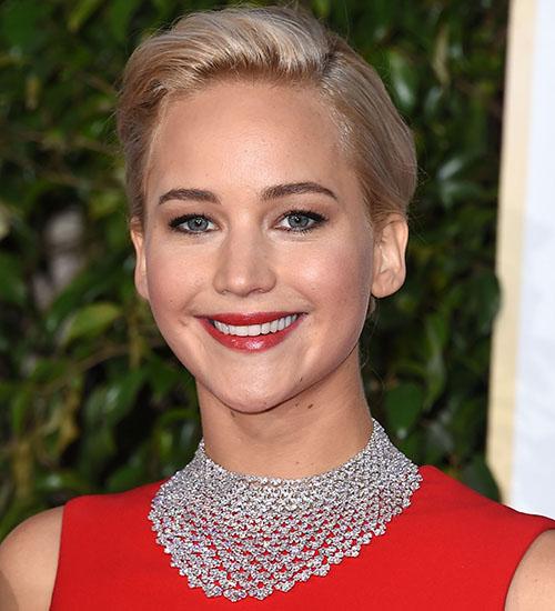 Jennifer Lawrence, joyas golden globes