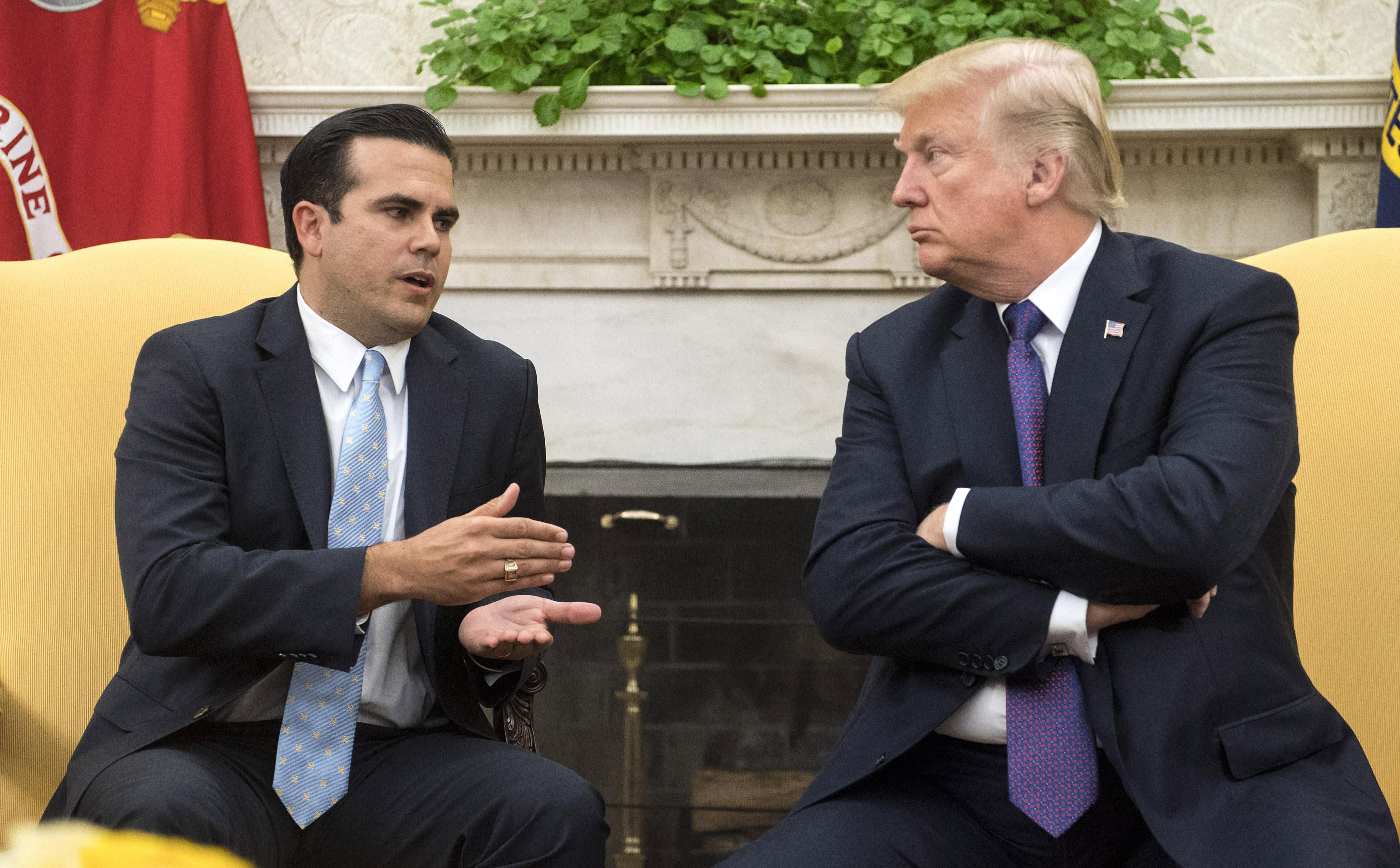 Ricardo Roselló y Donald Trump