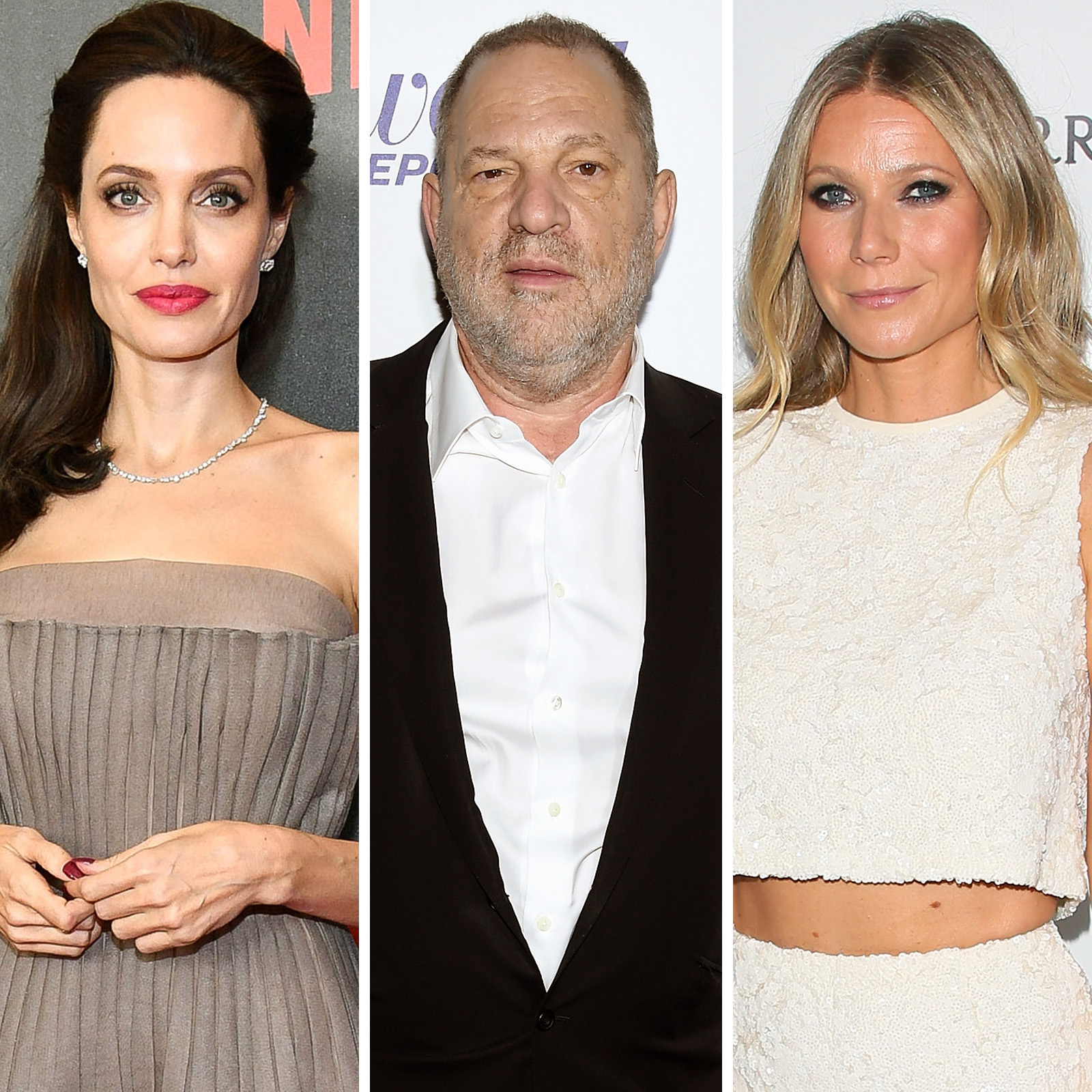 Angelina Jolie, Harvey Weinstein y Gwyneth Paltrow
