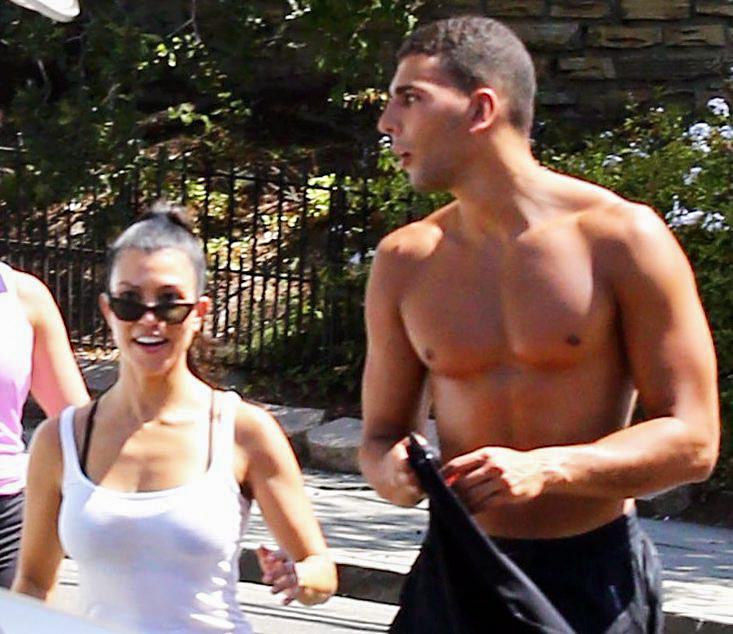 Los Angeles, August 27, 2017. Kourtney Kardashian and Younes Bendjima