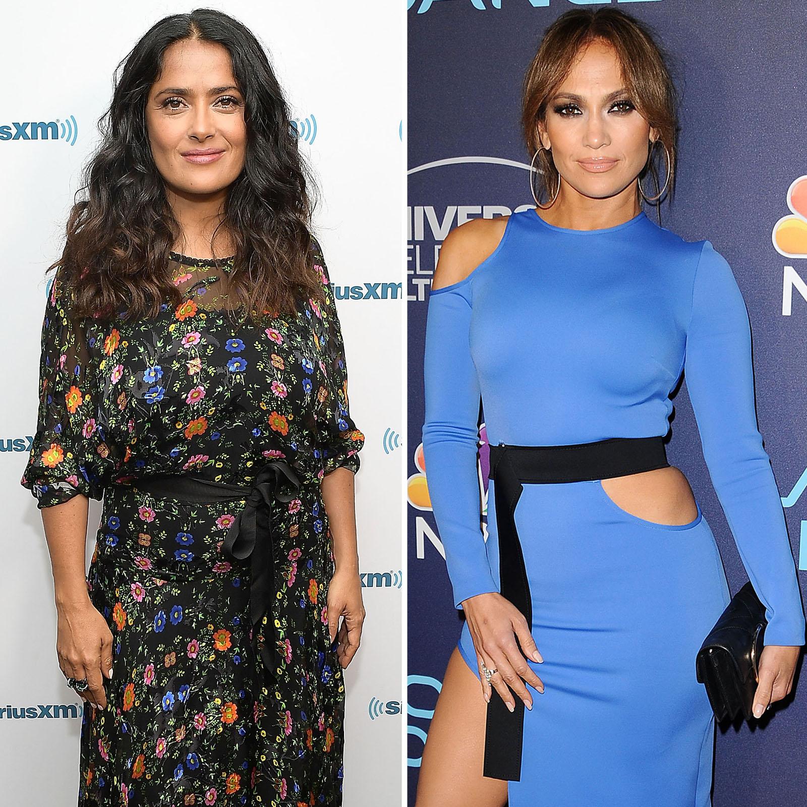 Salma Hayek y Jennifer Lopez