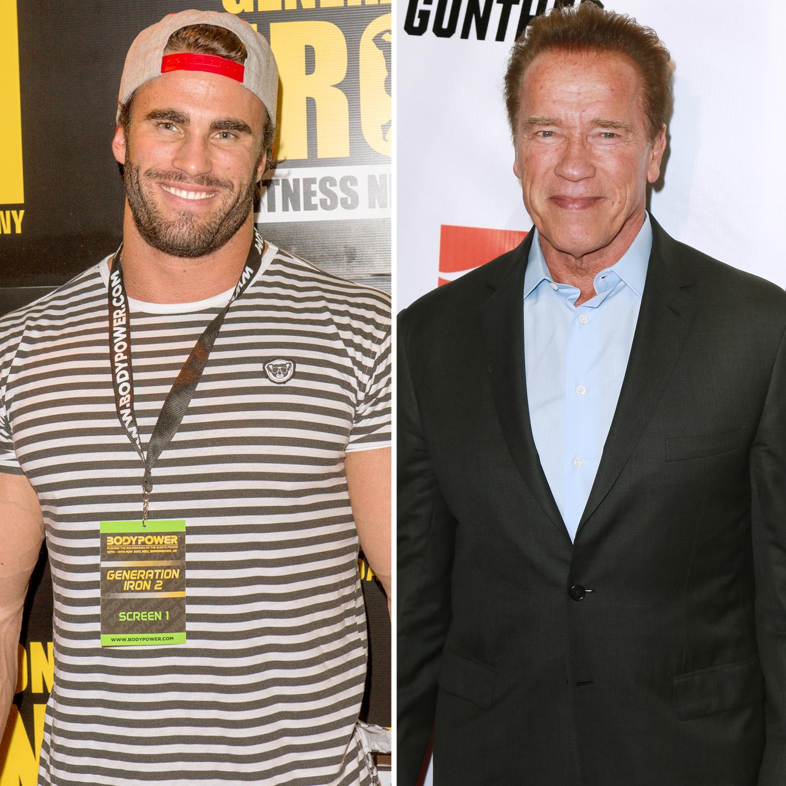 Calum Von Moger y Arnold Schwarzenegger
