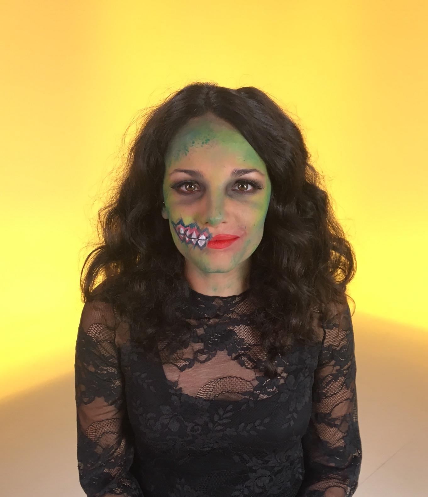 maquillaje zombie, halloween