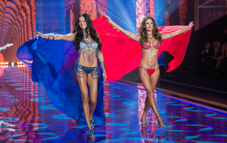Alessandra Ambrosio, Adriana Lima, Victoria's Secret, Fantasy Bra