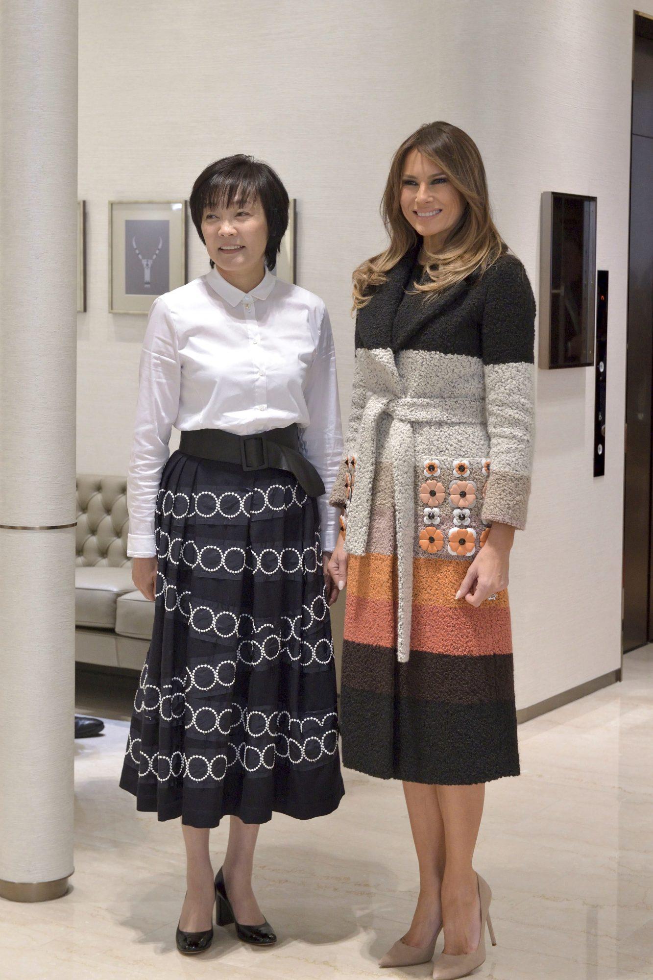 Melania Trump, asia, japon, china, looks