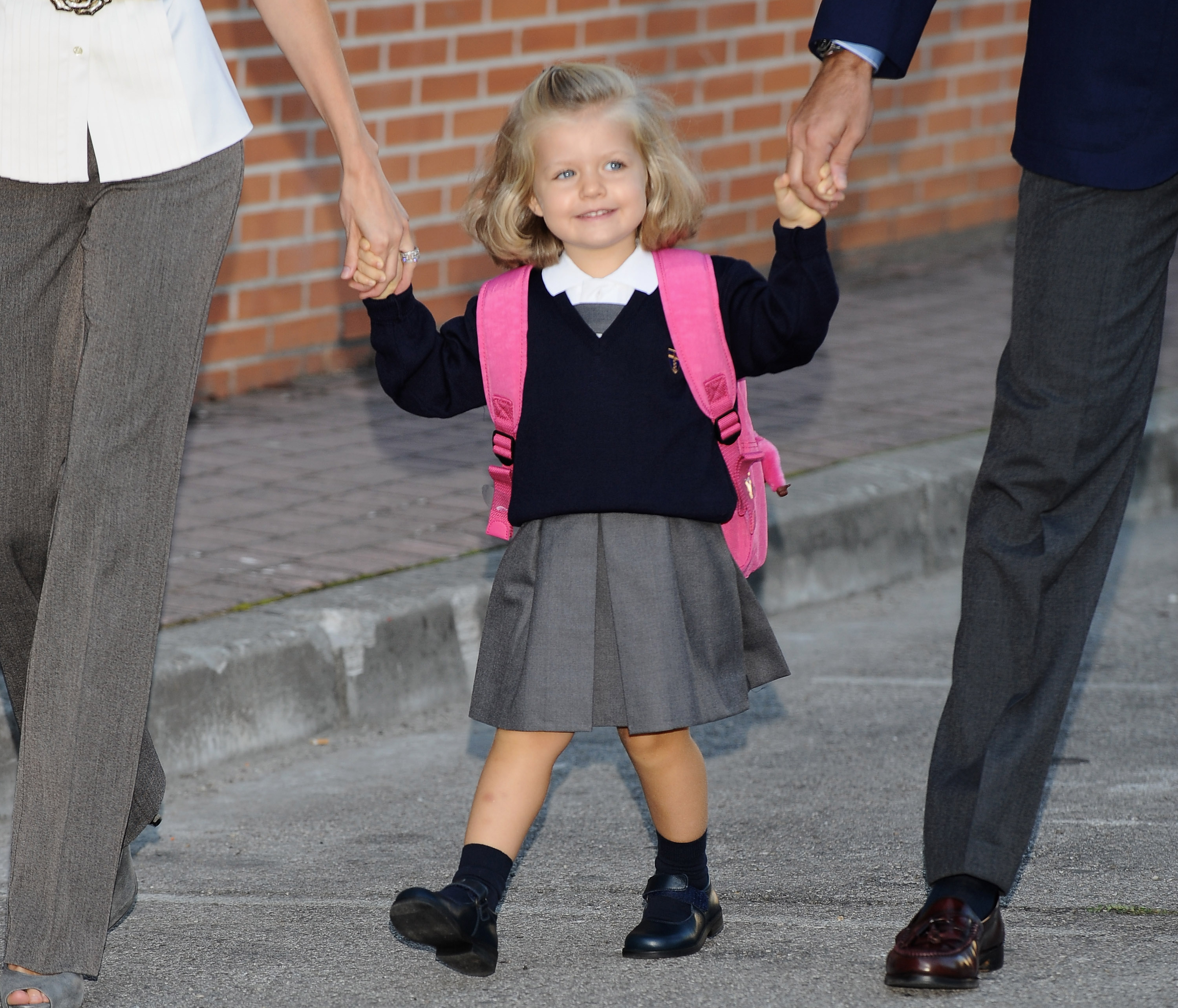 Leonor of Spain Attends First Day of School
