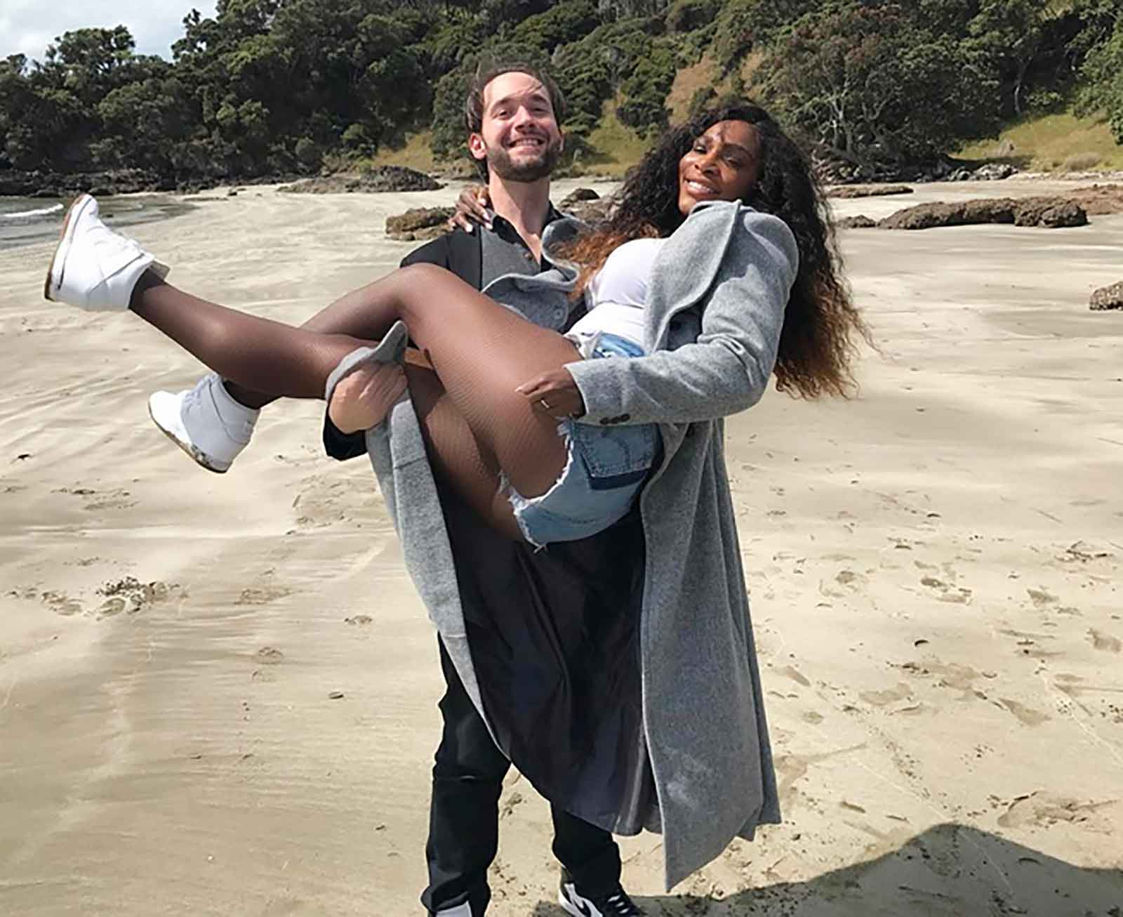 Serena Williams y Alexis Ohanian.