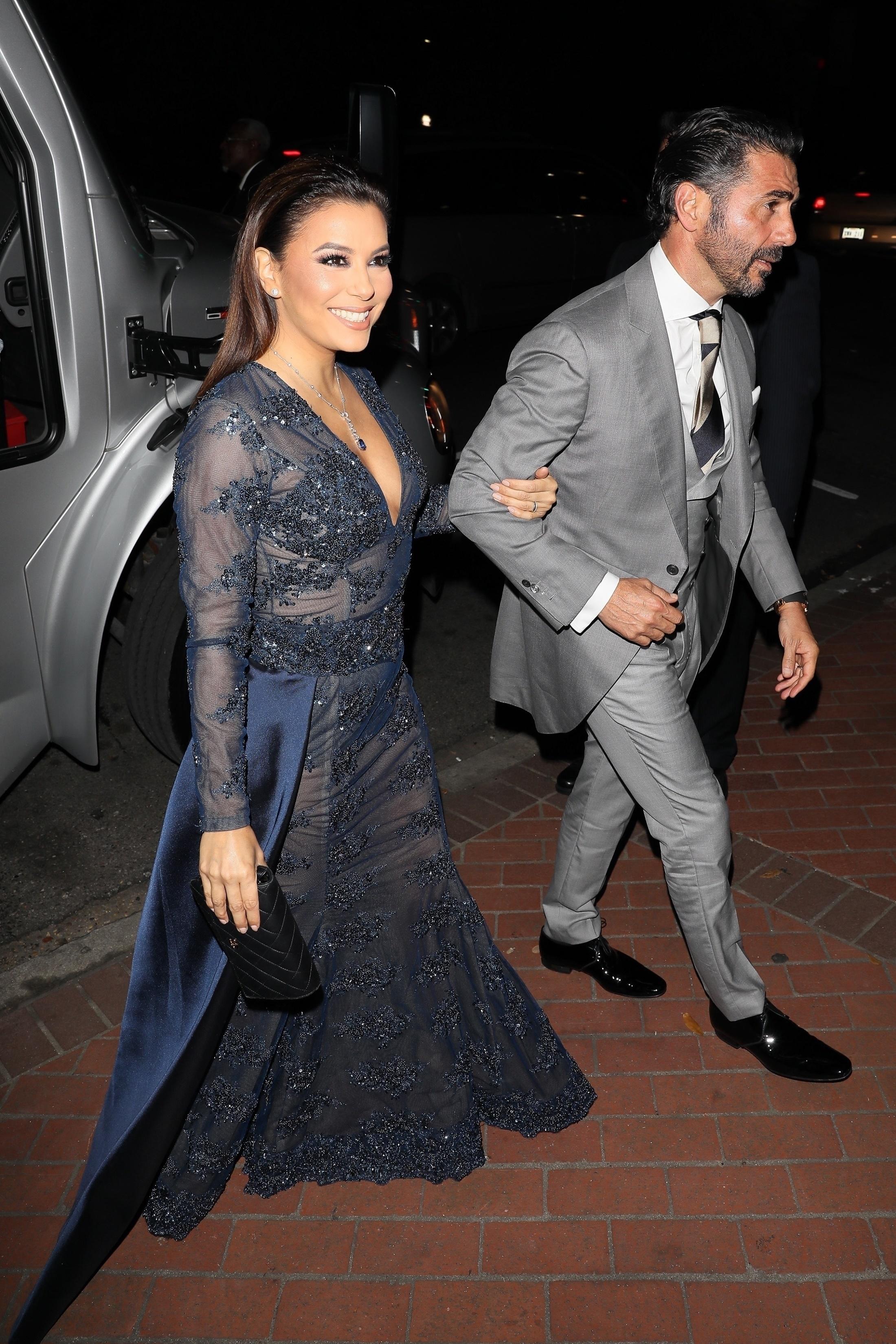 EXCLUSIVE Eva Longoria and Jose Baston Head to Serena Williams Wedding