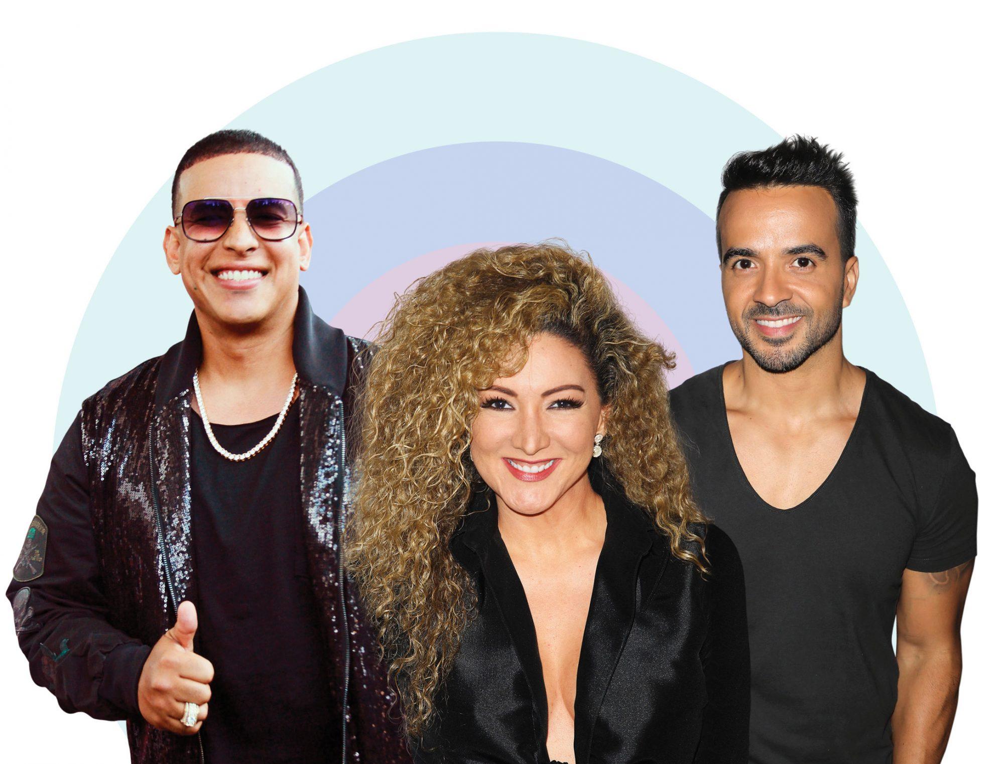 Daddy Yankee, Erika Ender y Luis Fonsi