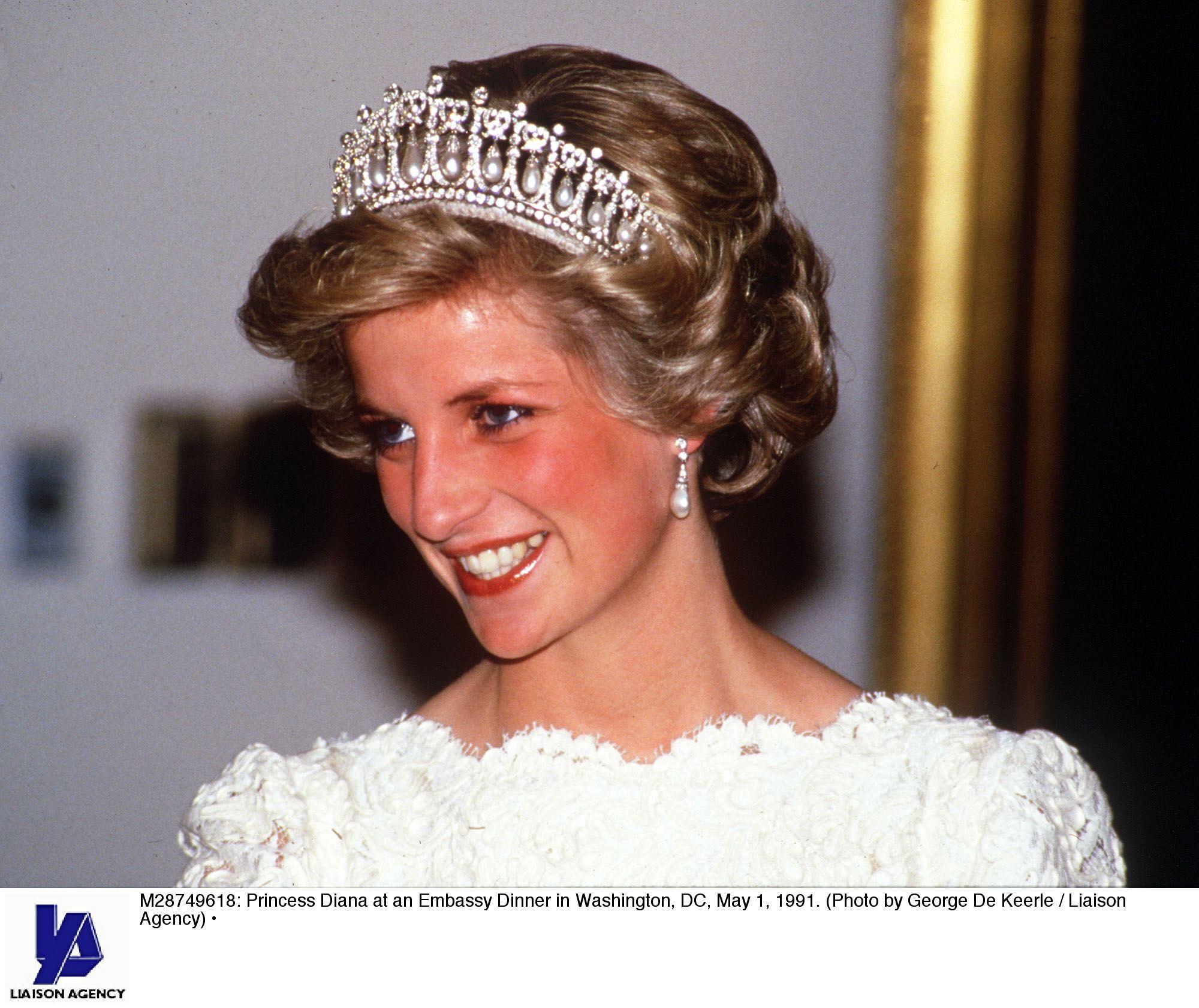 princesa diana, lady di, tiara, favorita