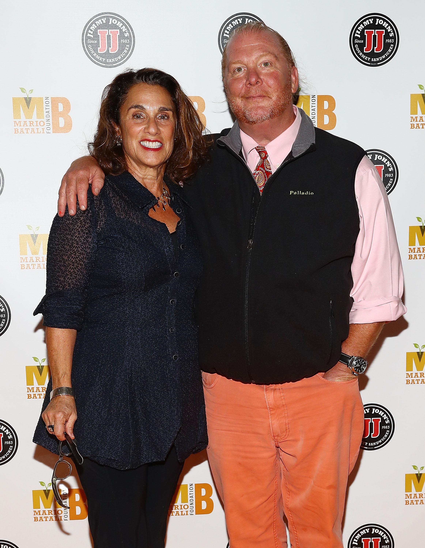 Susi Cahn y chef Mario Batali