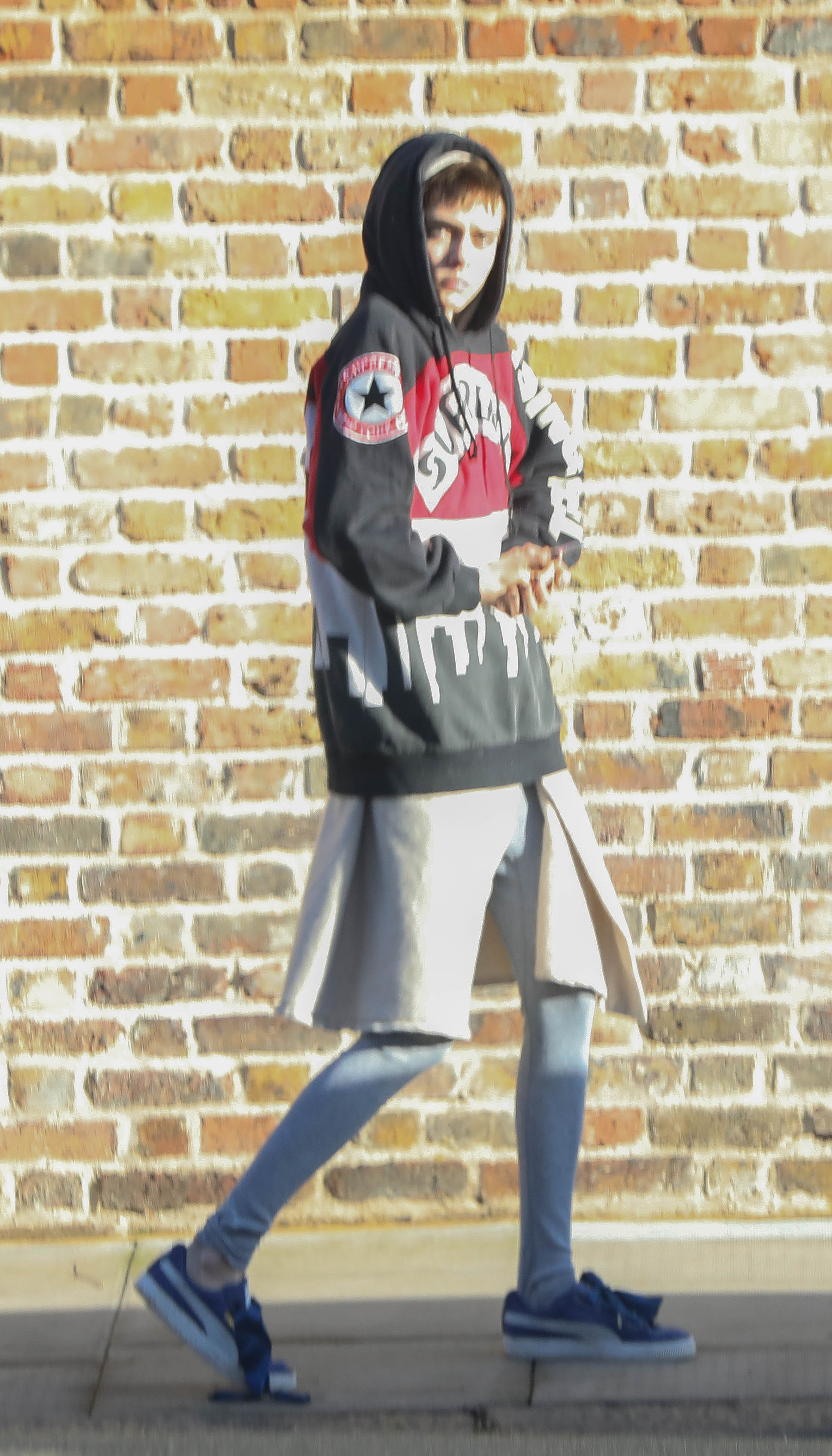 EXCLUSIVE  Cara Delevingne in Oversized Hoodie and Leggings Out in London