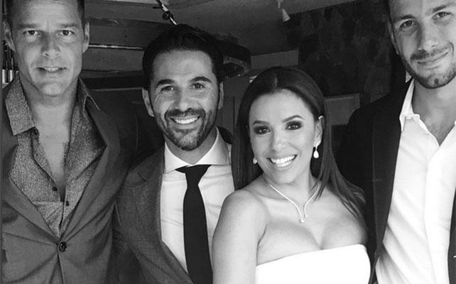 Ricky Martin en la boda de Eva Longoria