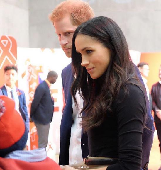 Príncipe Harry y su prometida Meghan