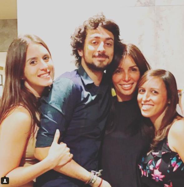 Giselle Blondet y sus hijos, Gabriella y Harold Trucco, Andrea Iglesias,