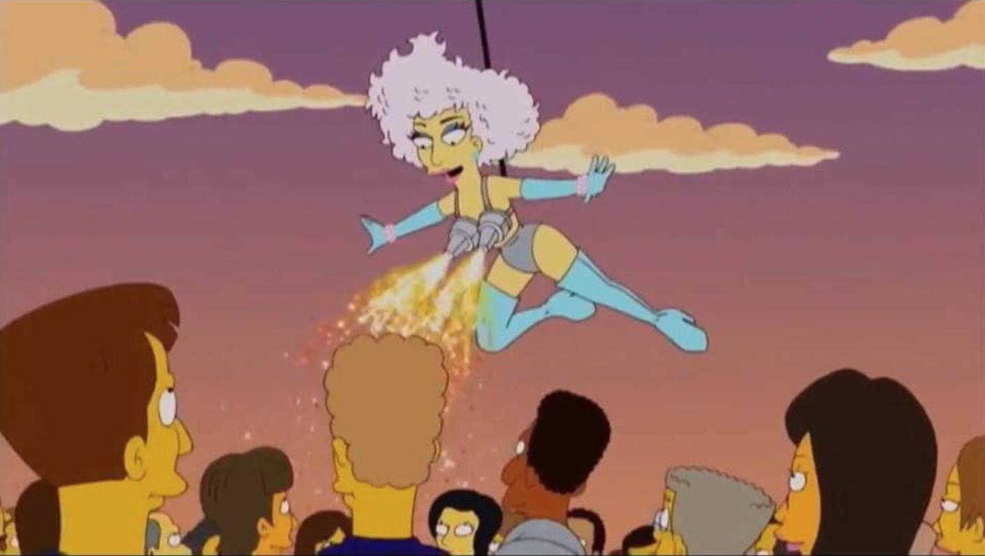 The Simpsons Lady Gaga