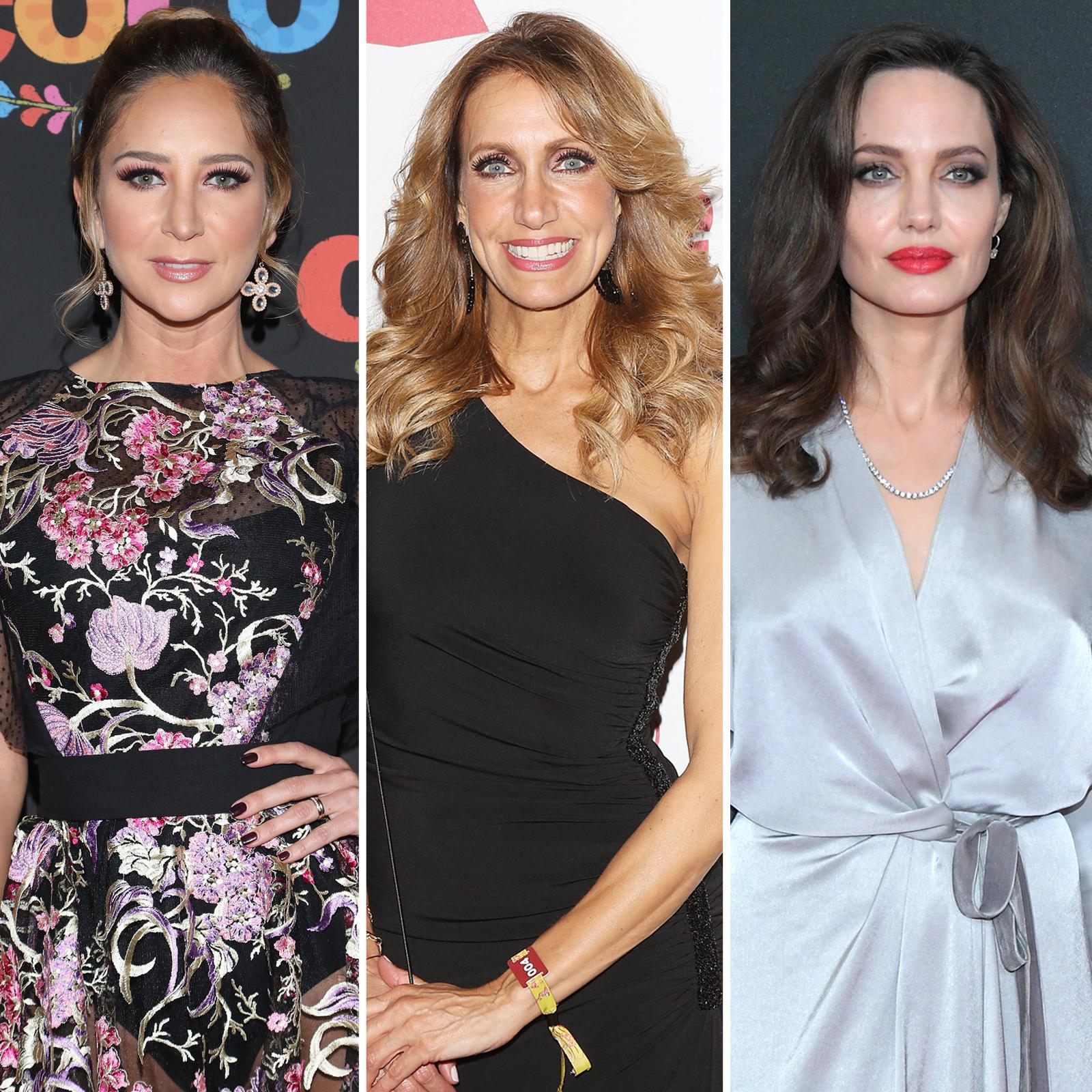 Geraldine Bazán, Lili Estefan y Angelina Jolie