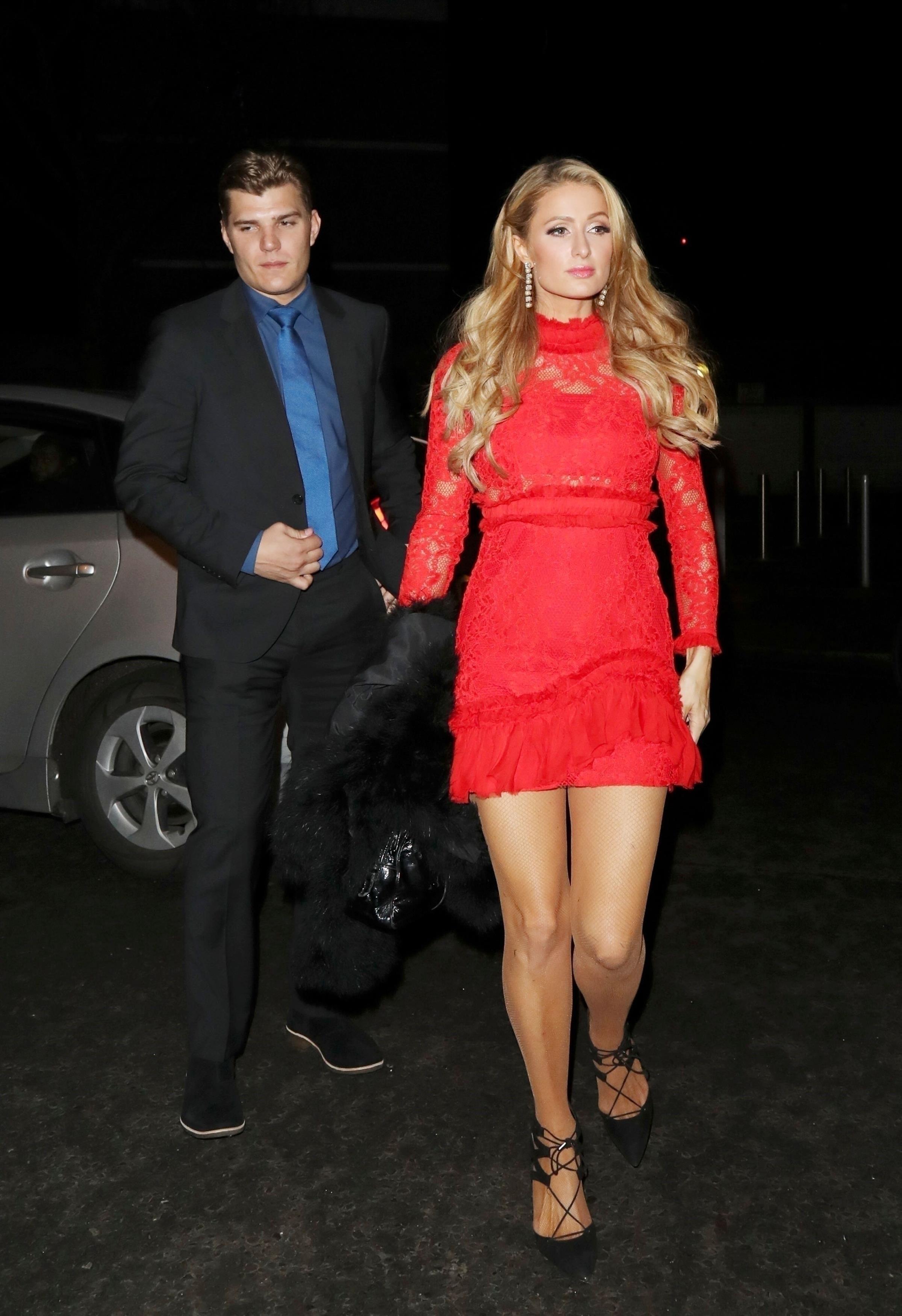 EXCLUSIVE Paris Hilton and Boyfriend Chris Zylka Attend a House Party in West London