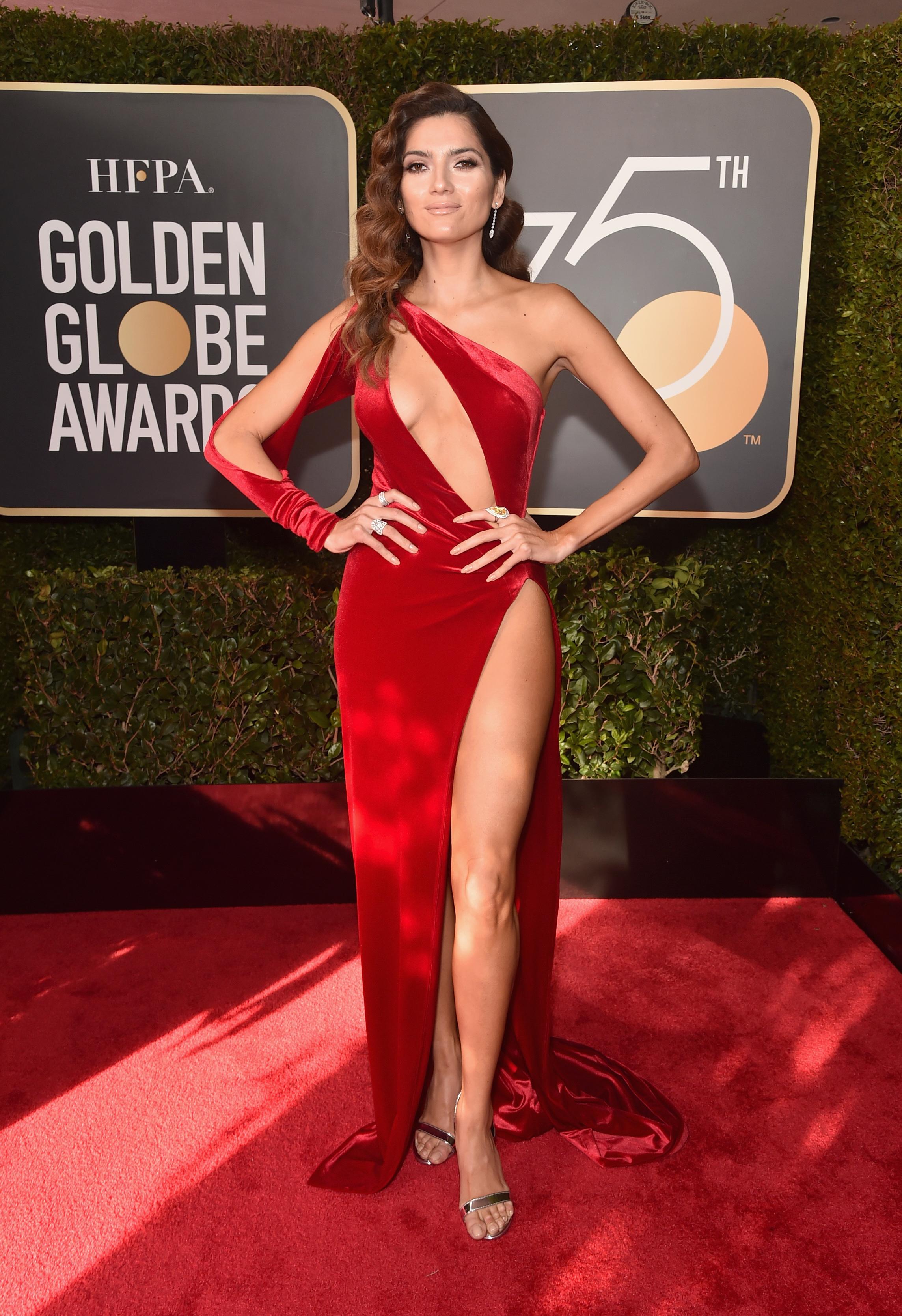 Blanca Blanco vestido rojo Golden Globes