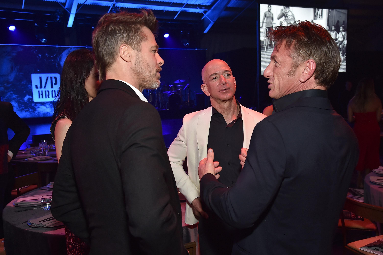 Brad Pitt Sean Penn Jeff Bezos