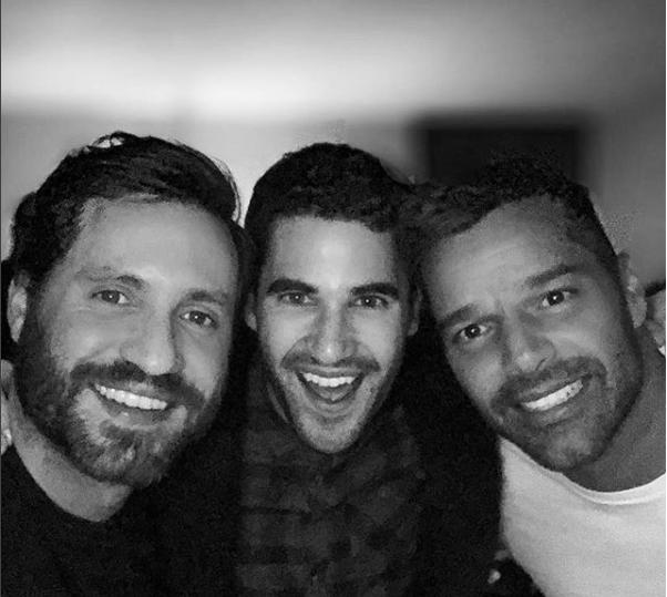 Ricky Martin, Edgar Ramírez y Darren Criss