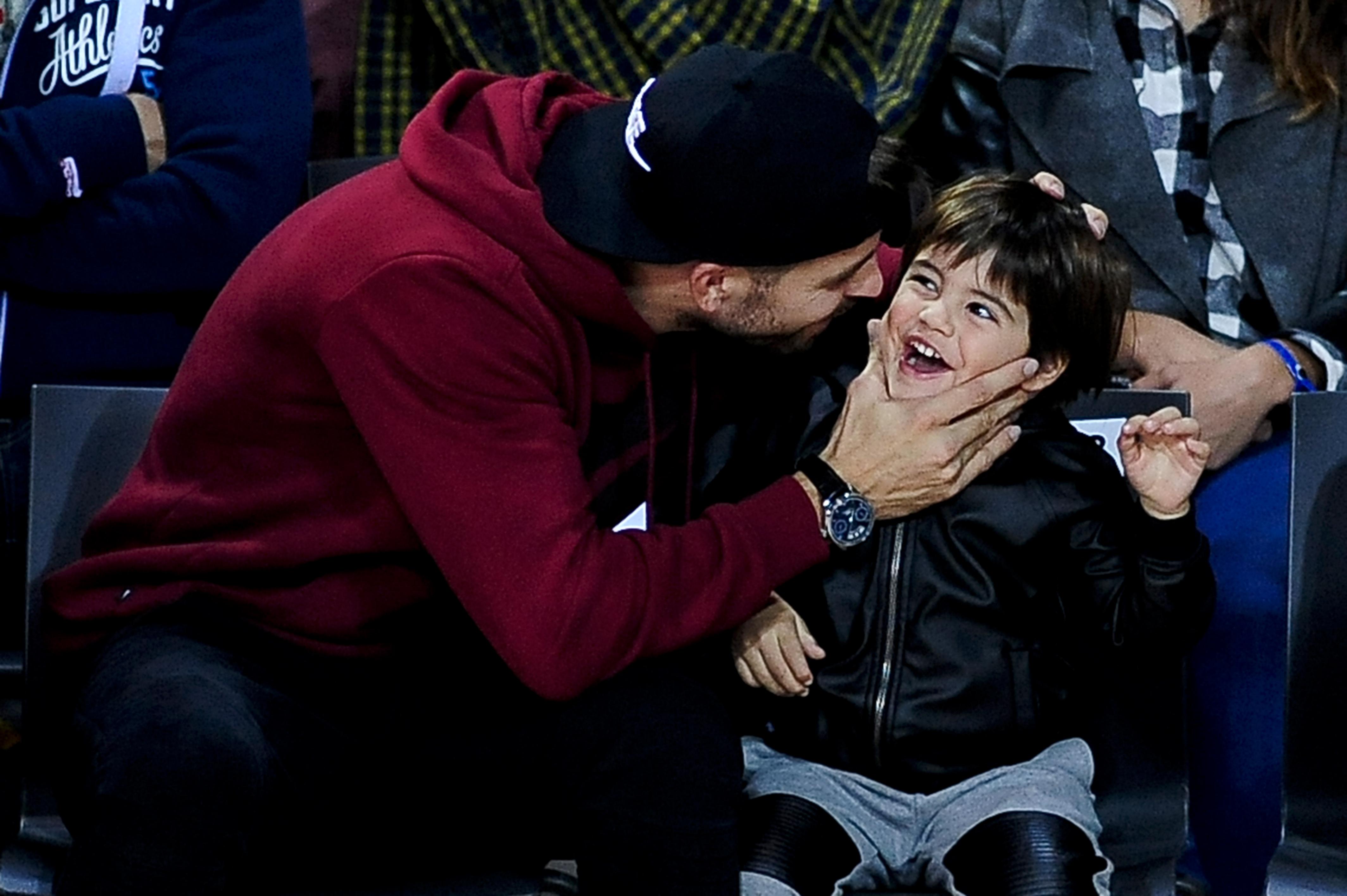 Gerard Piqué Attends F.C Barcelona Lassa vs Real Madrid