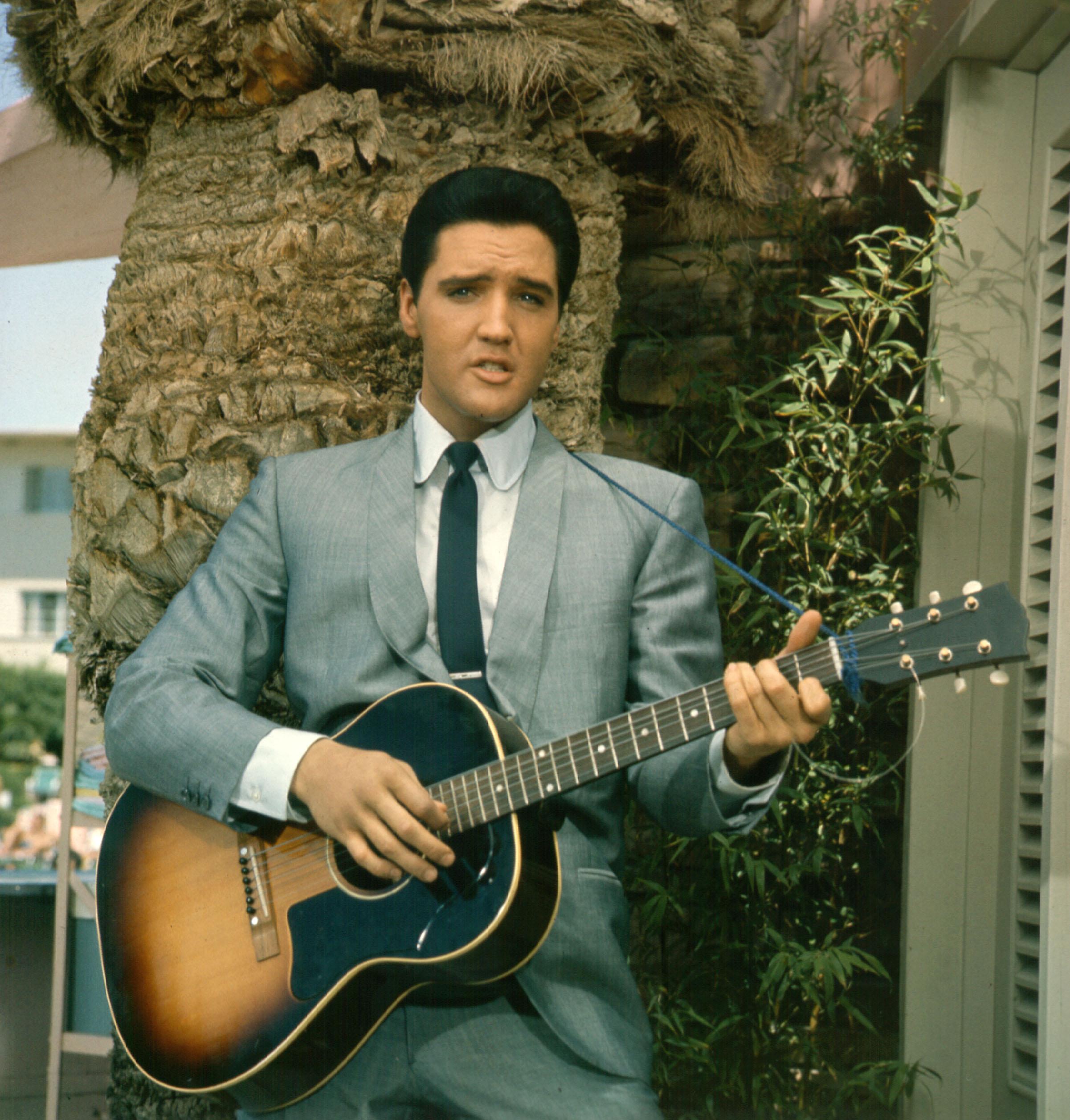 Elvis Presley in a movie still