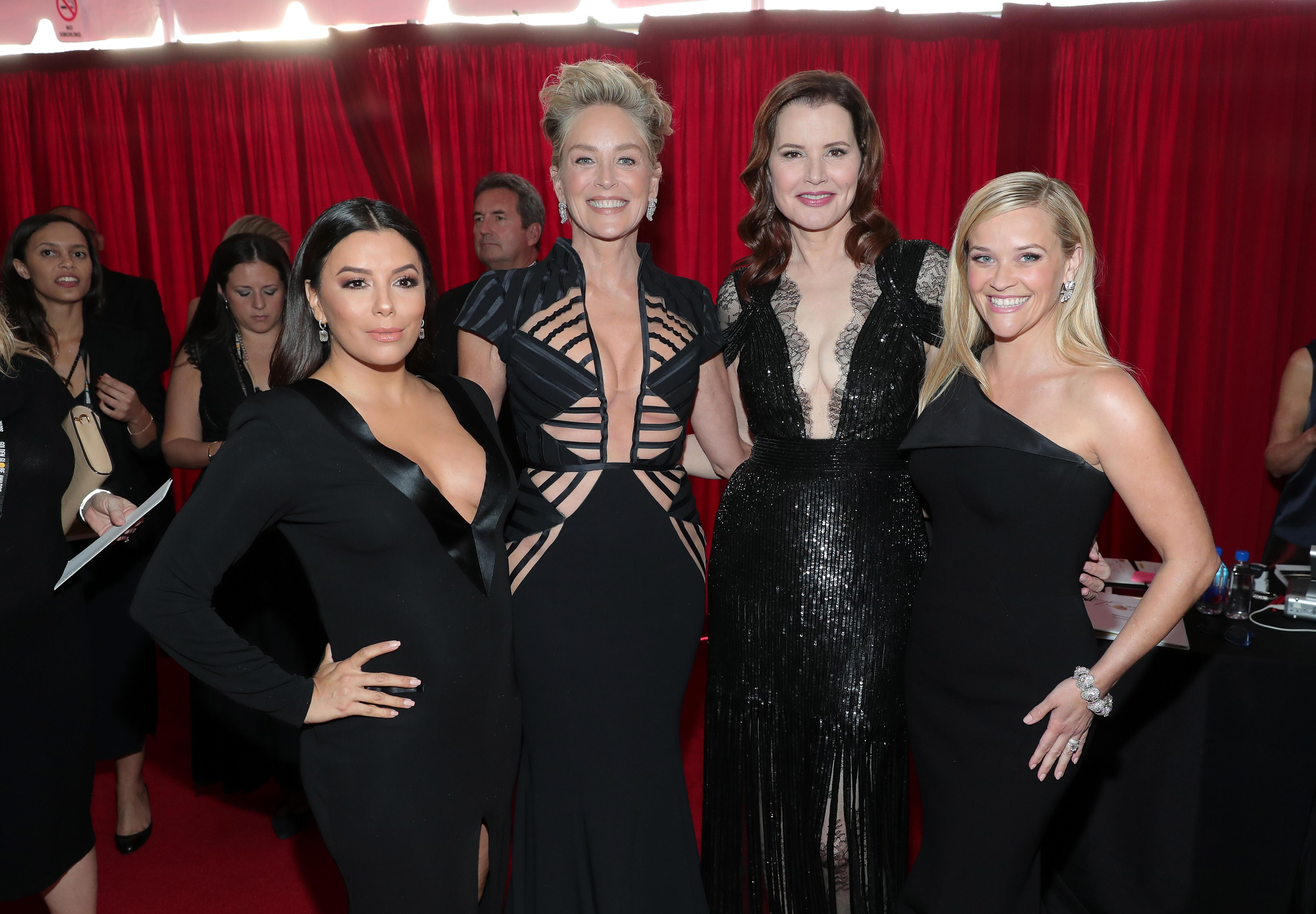 Eva Longoria, Sharon Stone, Geena Davis y Reese Witherspoon