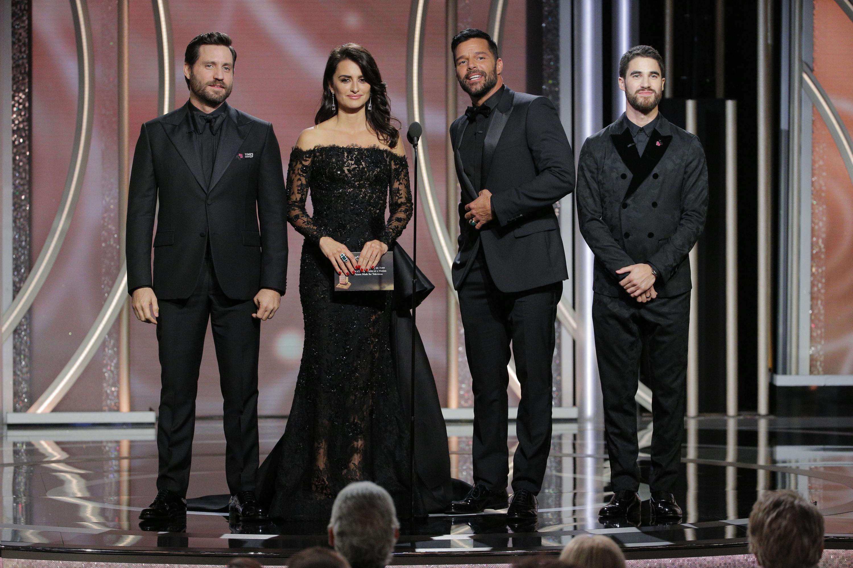 Ricky Martin, Penélope Cruz,Edgar Ramírez, Darren Criss