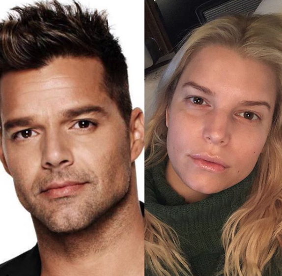 Ricky Martin y Jessica Simpson