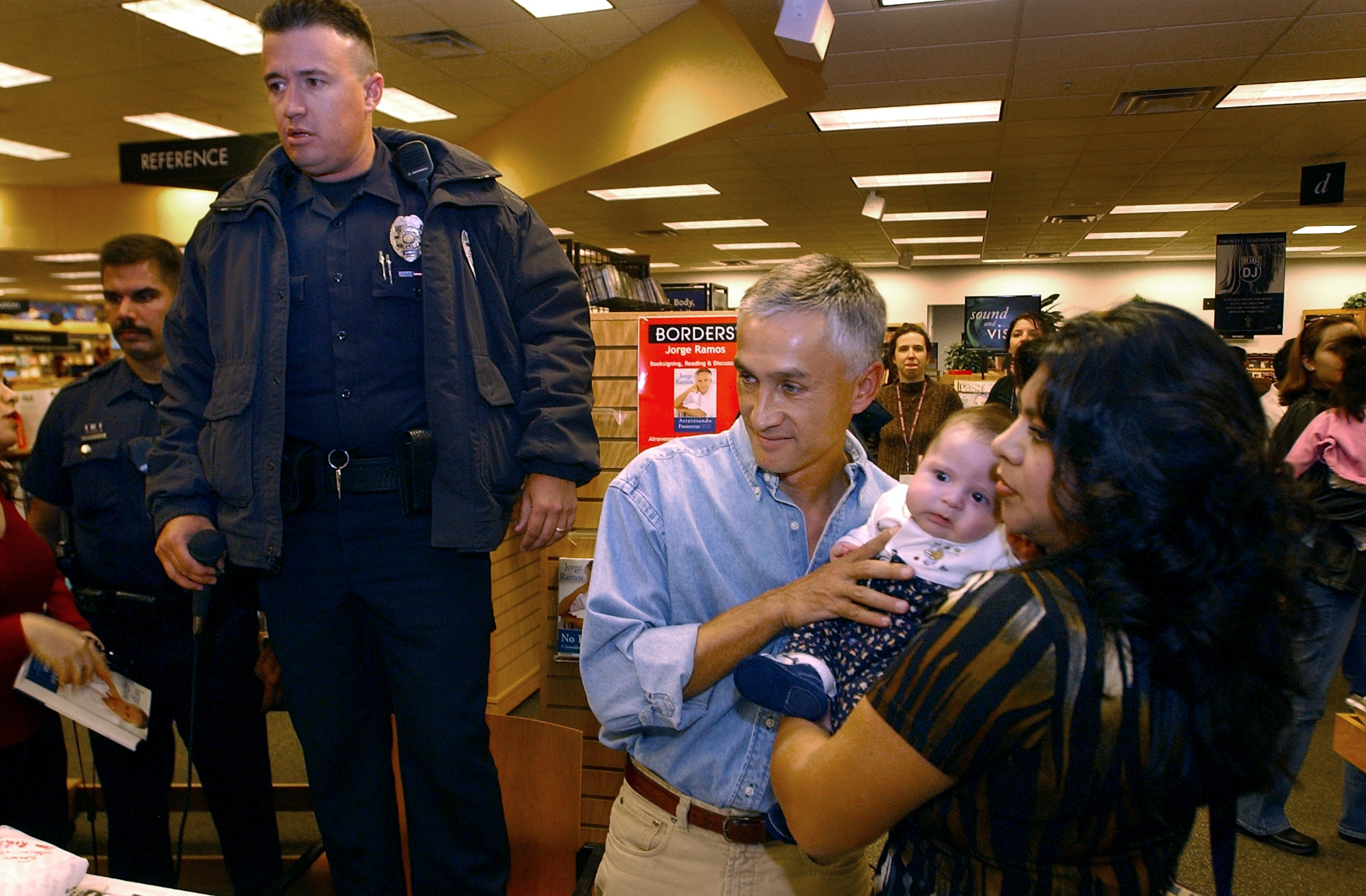JORGE RAMOS The very popular anchor for Univision, a spanish news station, was bombarded by thousands of people who showed up at the Borders bookstore in Northglenn to buy his new book and get his autograph. The Northglenn police finally had to arrive to