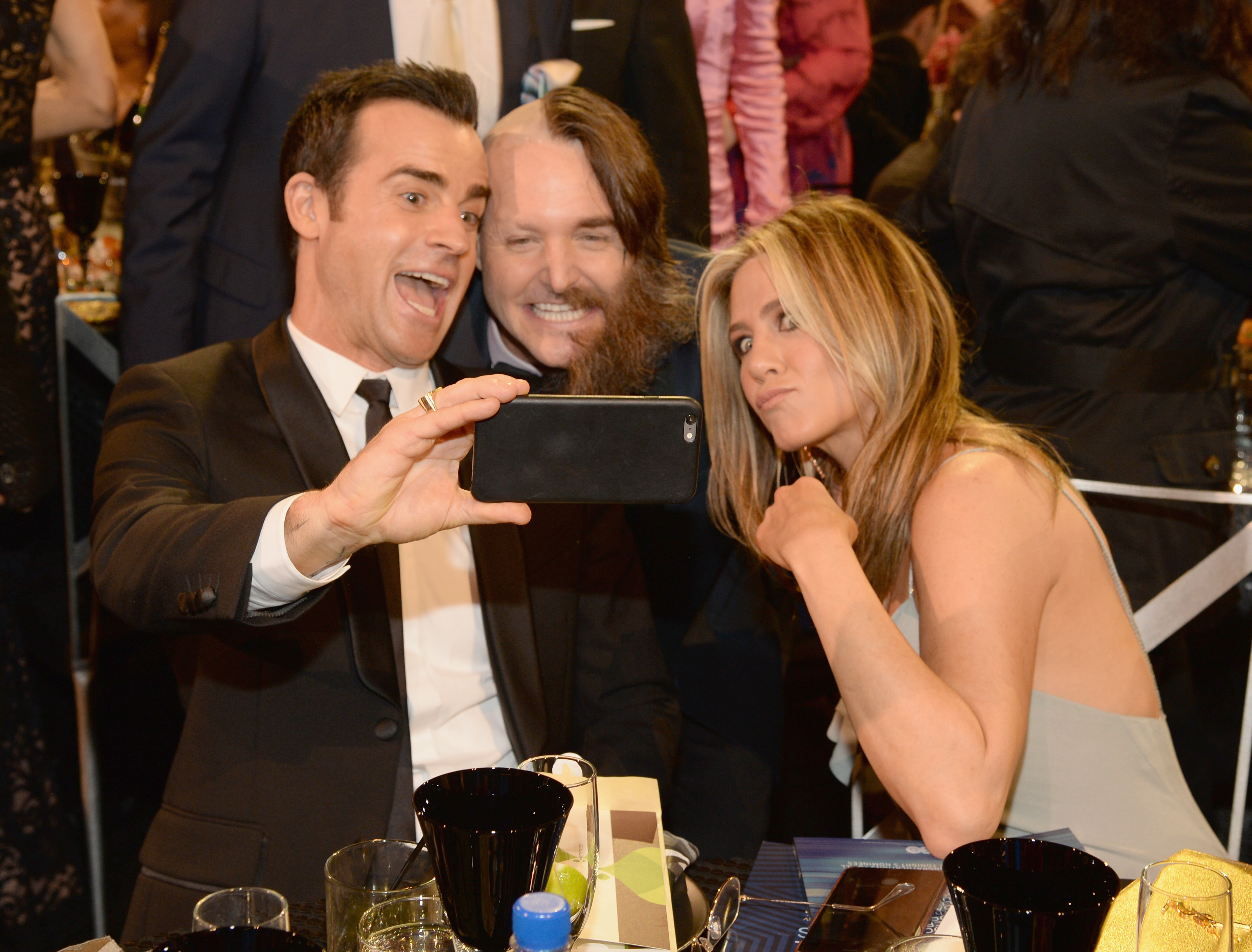 Justin Theroux, Will Forte and Jennifer Aniston